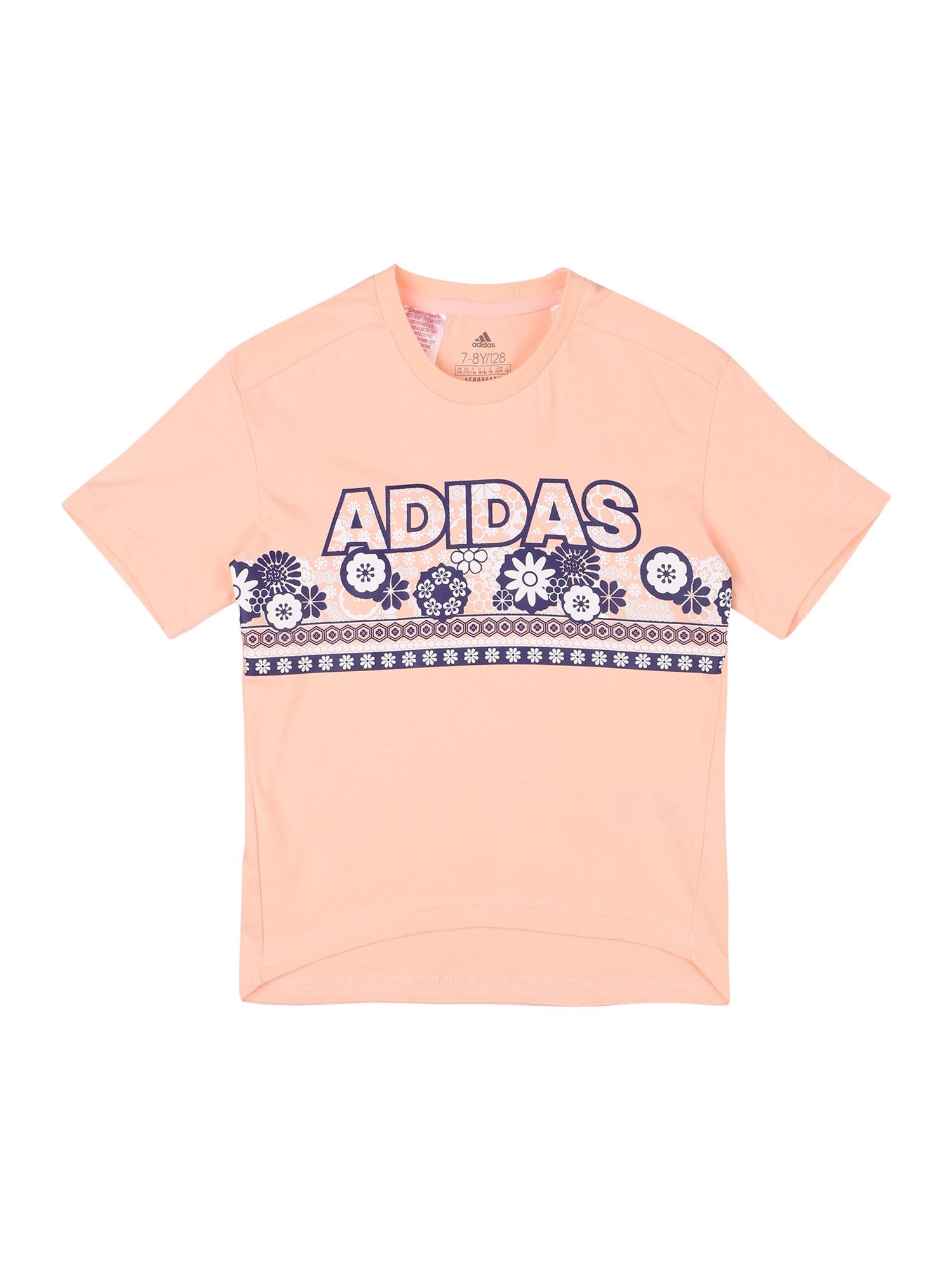 ADIDAS PERFORMANCE Sportiniai marškinėliai rožių spalva / mėlyna