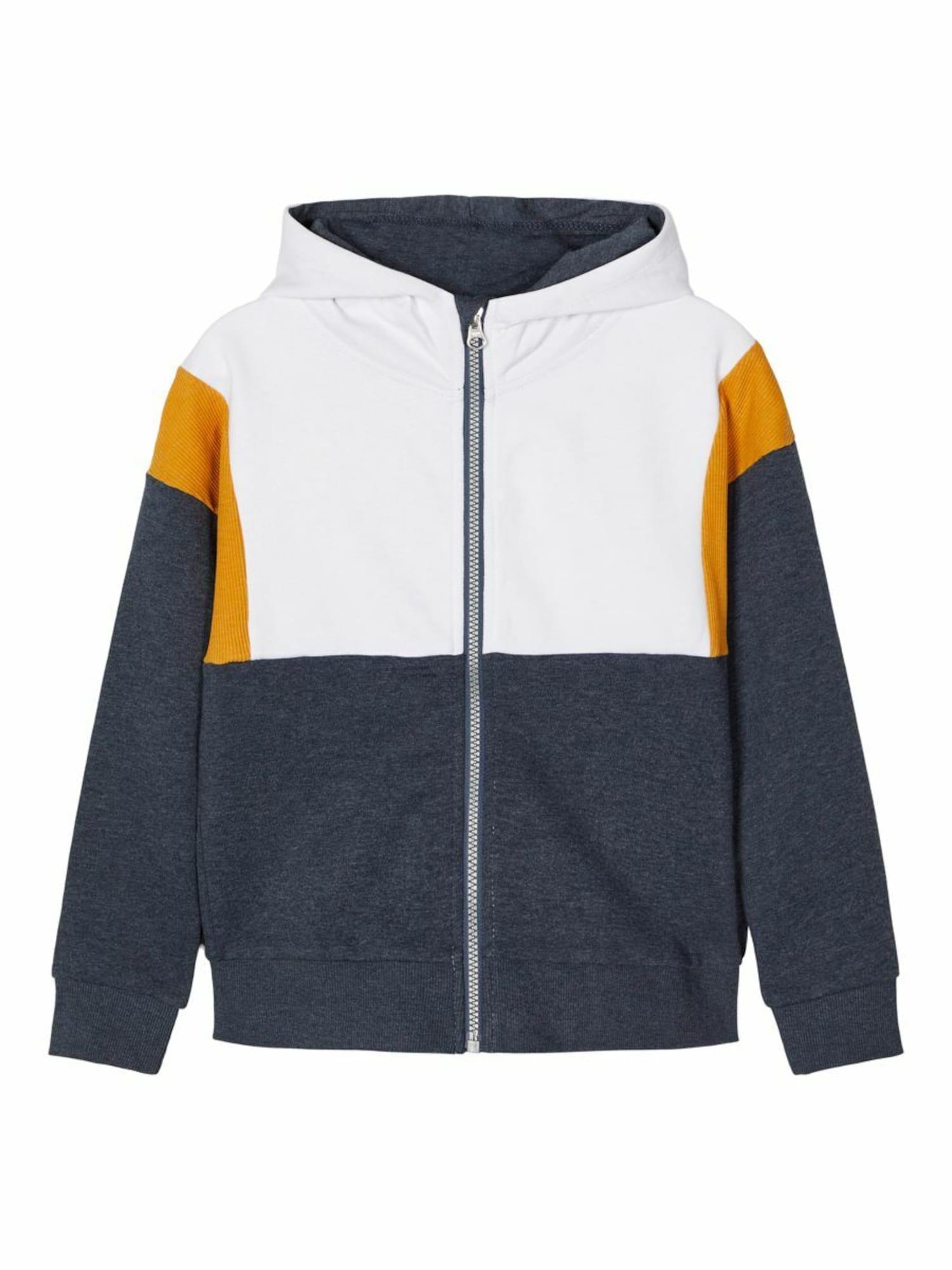 NAME IT Džemperis mėlyna / balta / oranžinė