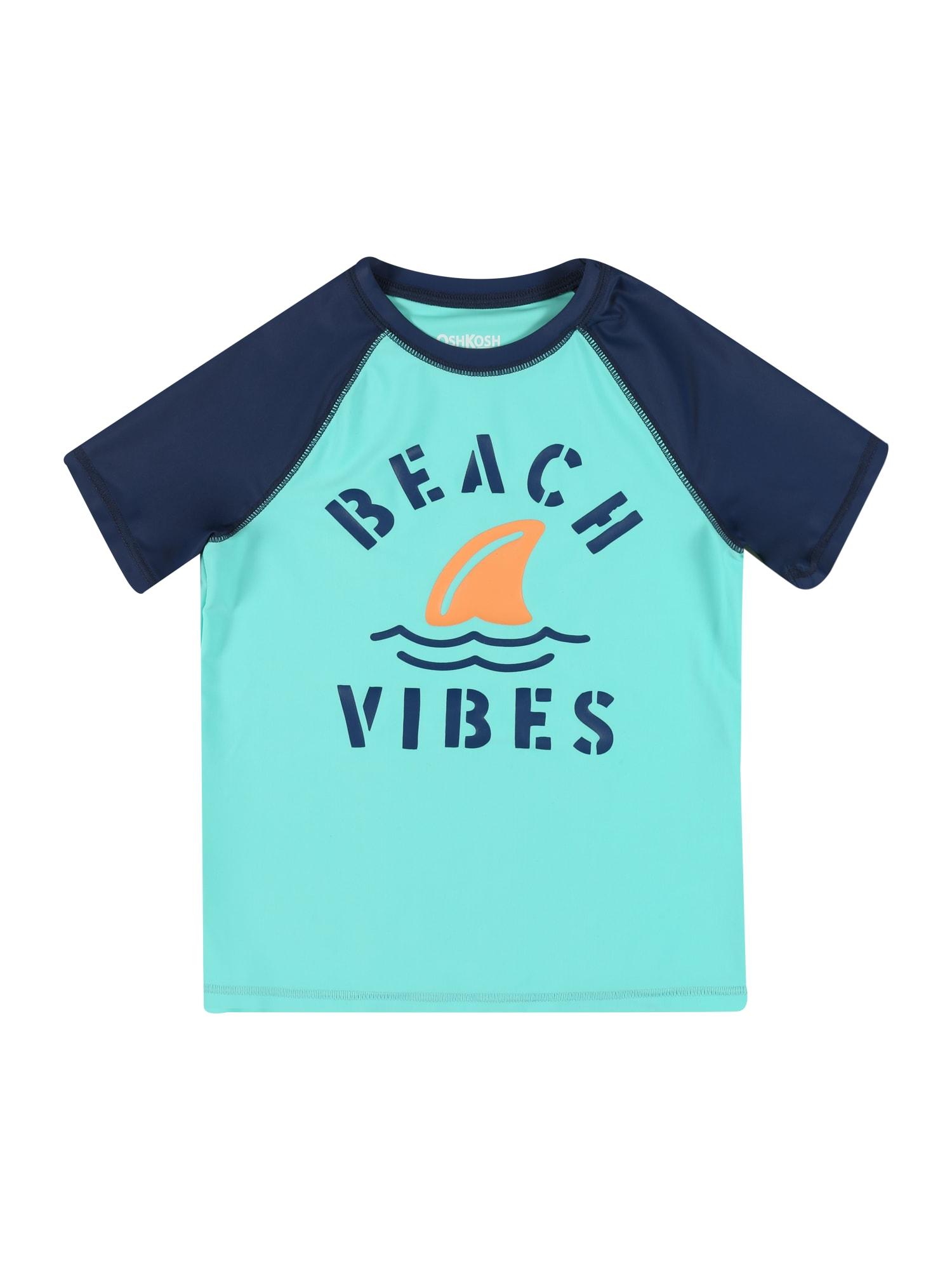 OshKosh Marškinėliai tamsiai mėlyna / oranžinė / turkio spalva