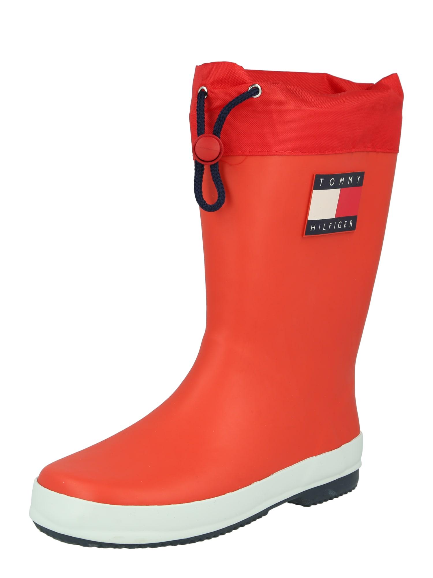 TOMMY HILFIGER Guminiai batai raudona