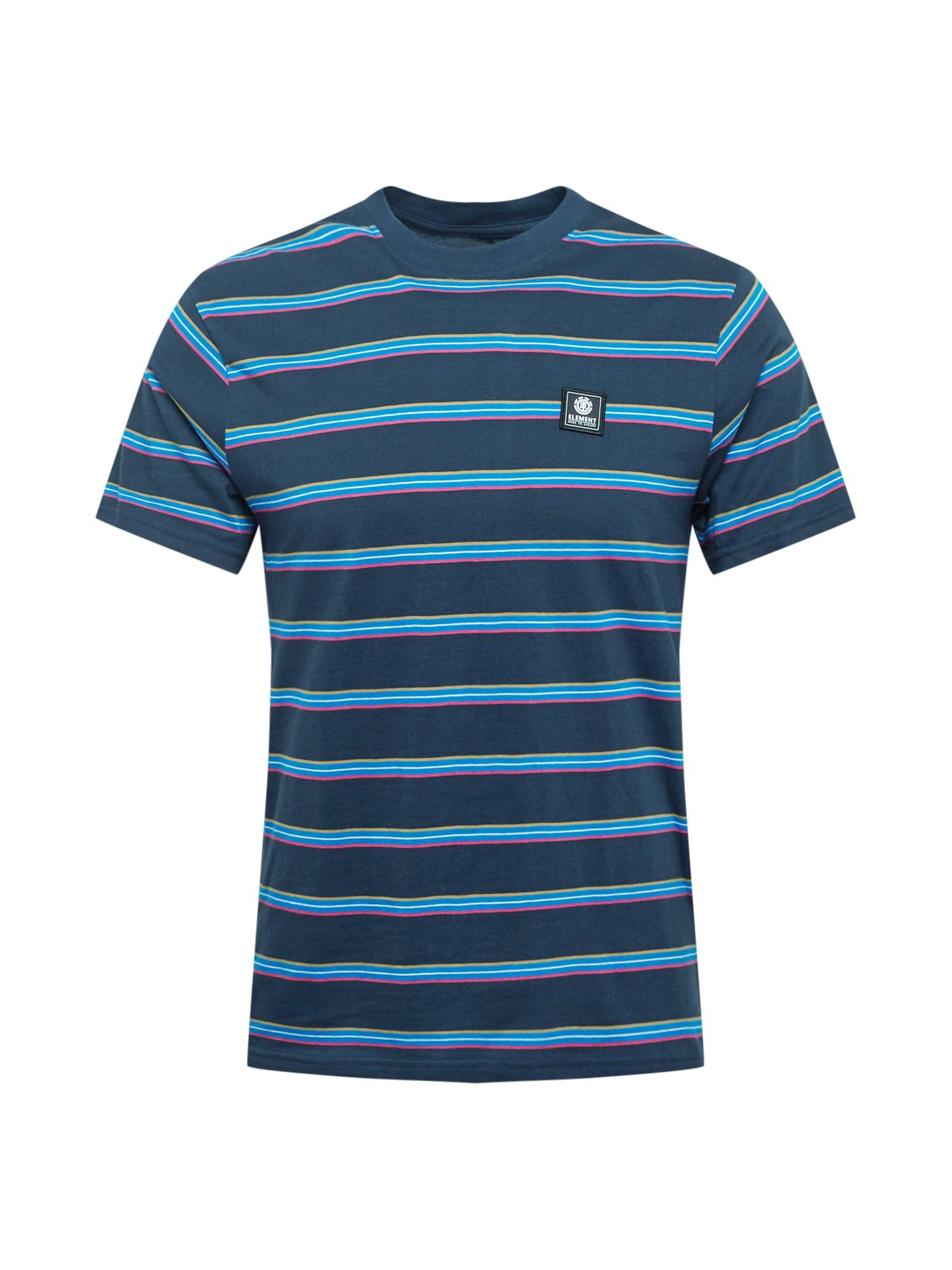 ELEMENT Marškinėliai tamsiai mėlyna / šviesiai mėlyna / rožinė