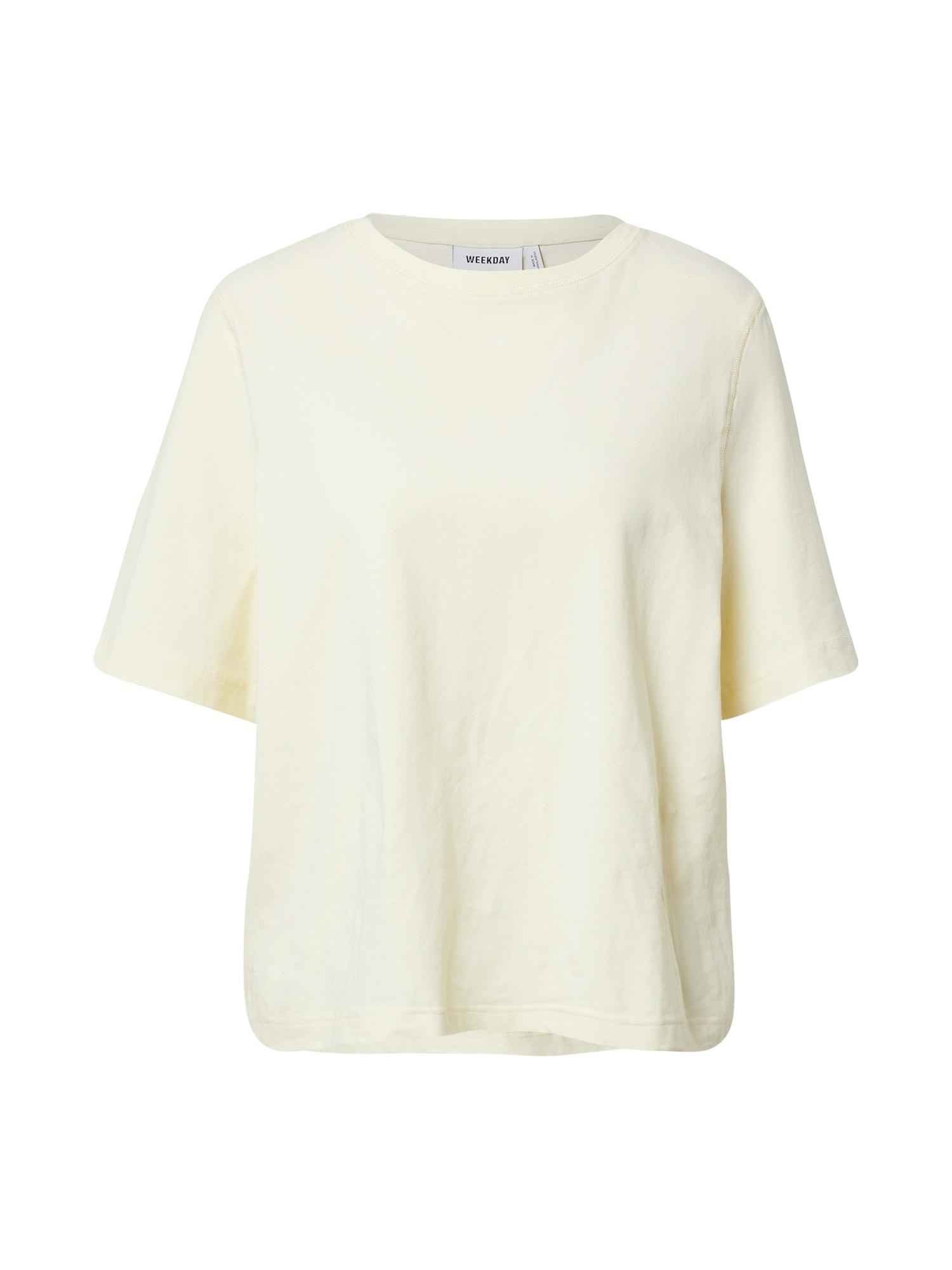 WEEKDAY Marškinėliai geltona