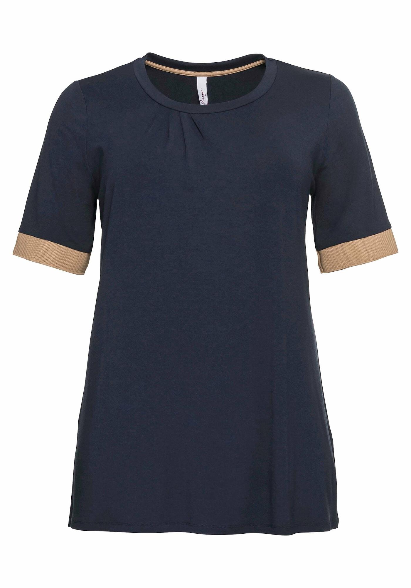 SHEEGO Marškinėliai nakties mėlyna / smėlio
