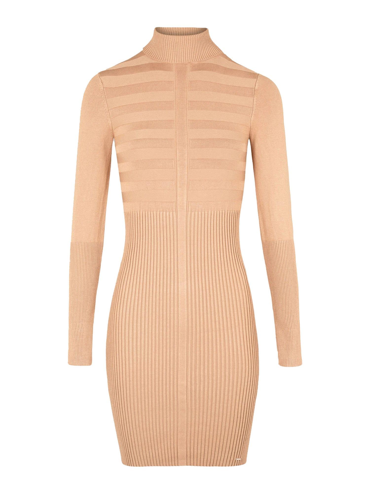 Morgan Úpletové šaty  světle hnědá