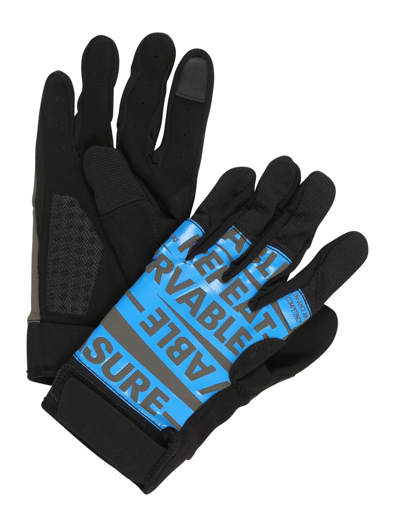 REEBOK Sportinės pirštinės tamsiai pilka / antracito / šviesiai mėlyna