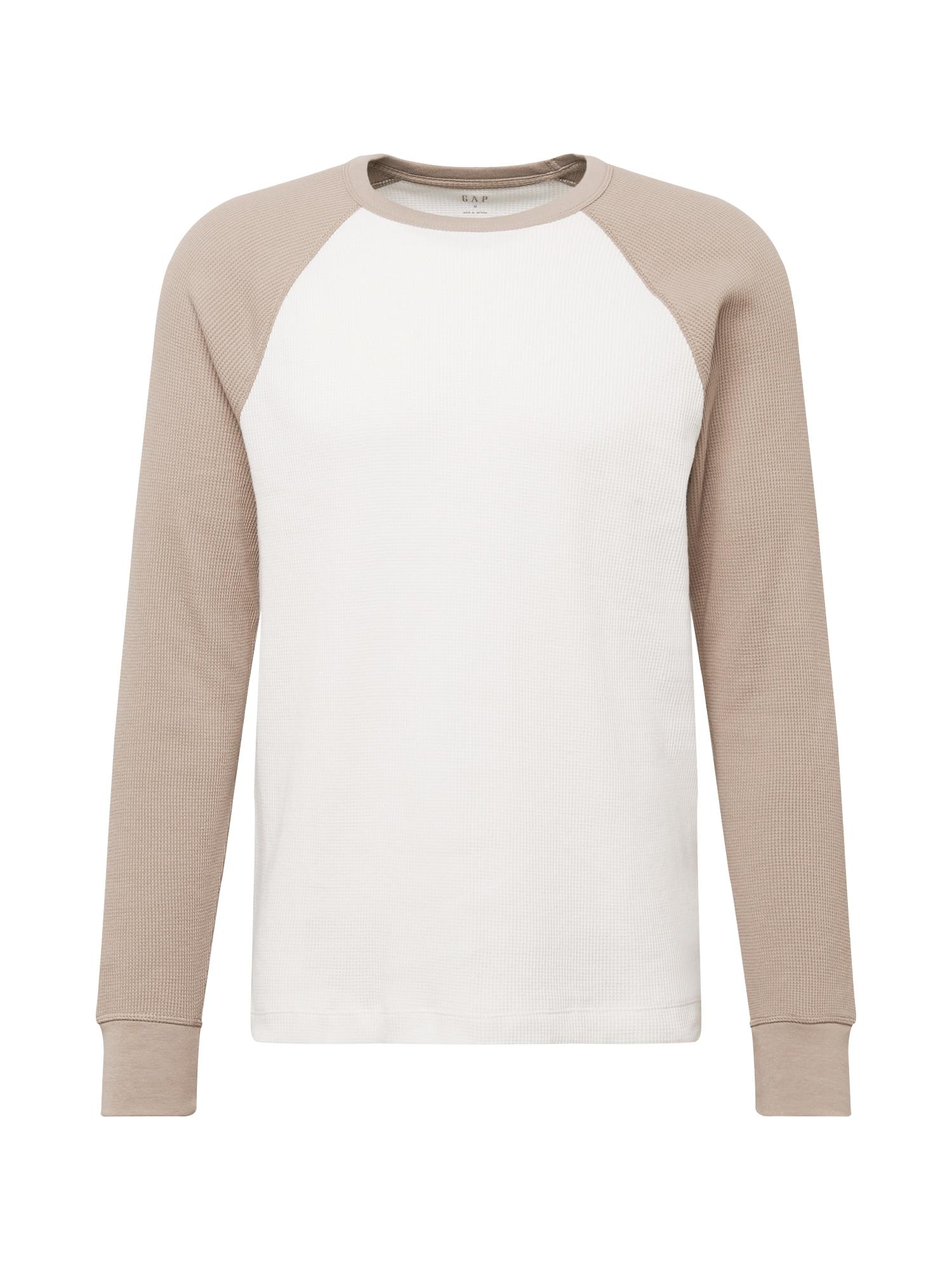 GAP Tričko  krémová / tmavě béžová