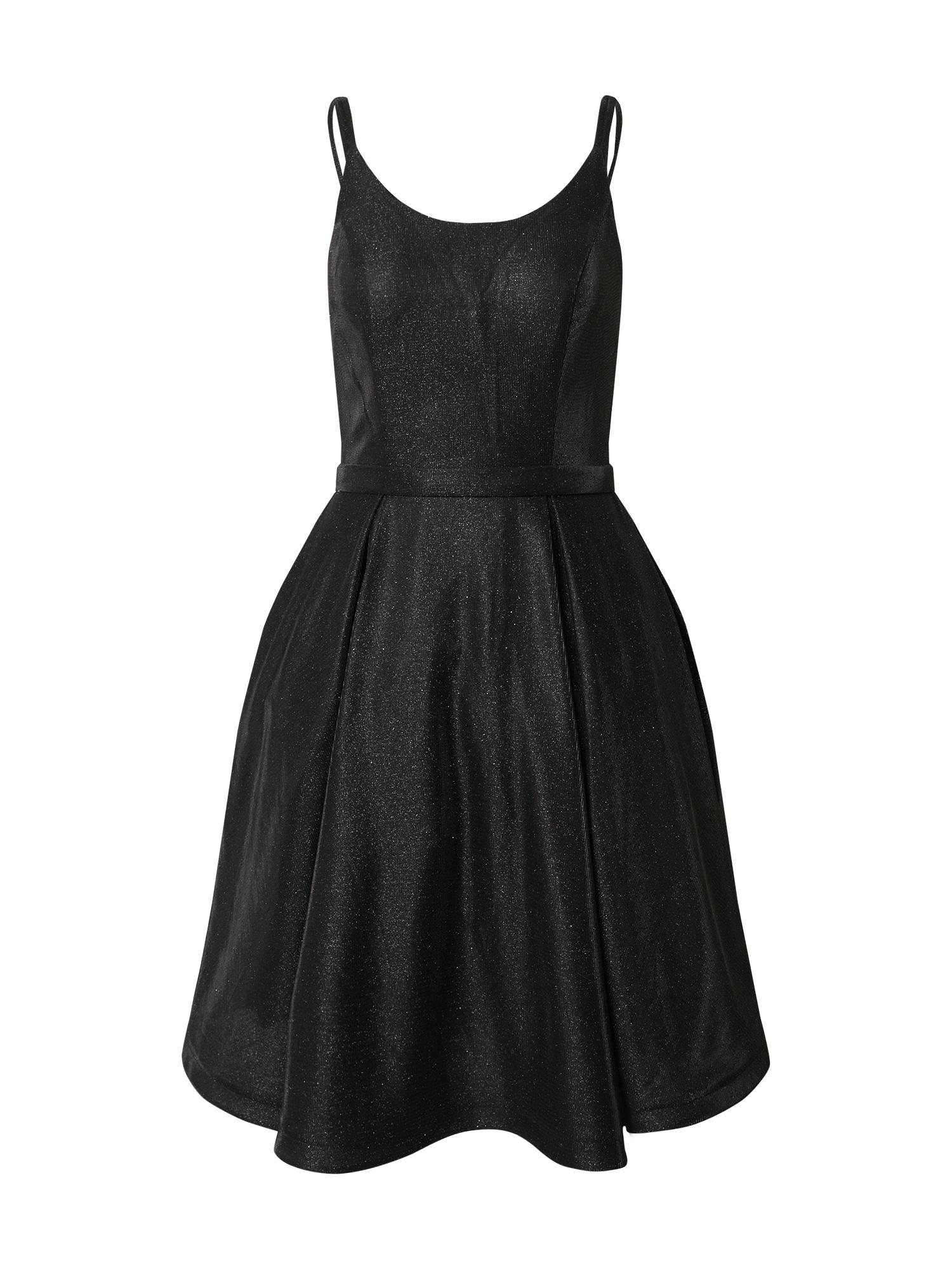 mascara Kokteilinė suknelė juoda / sidabrinė