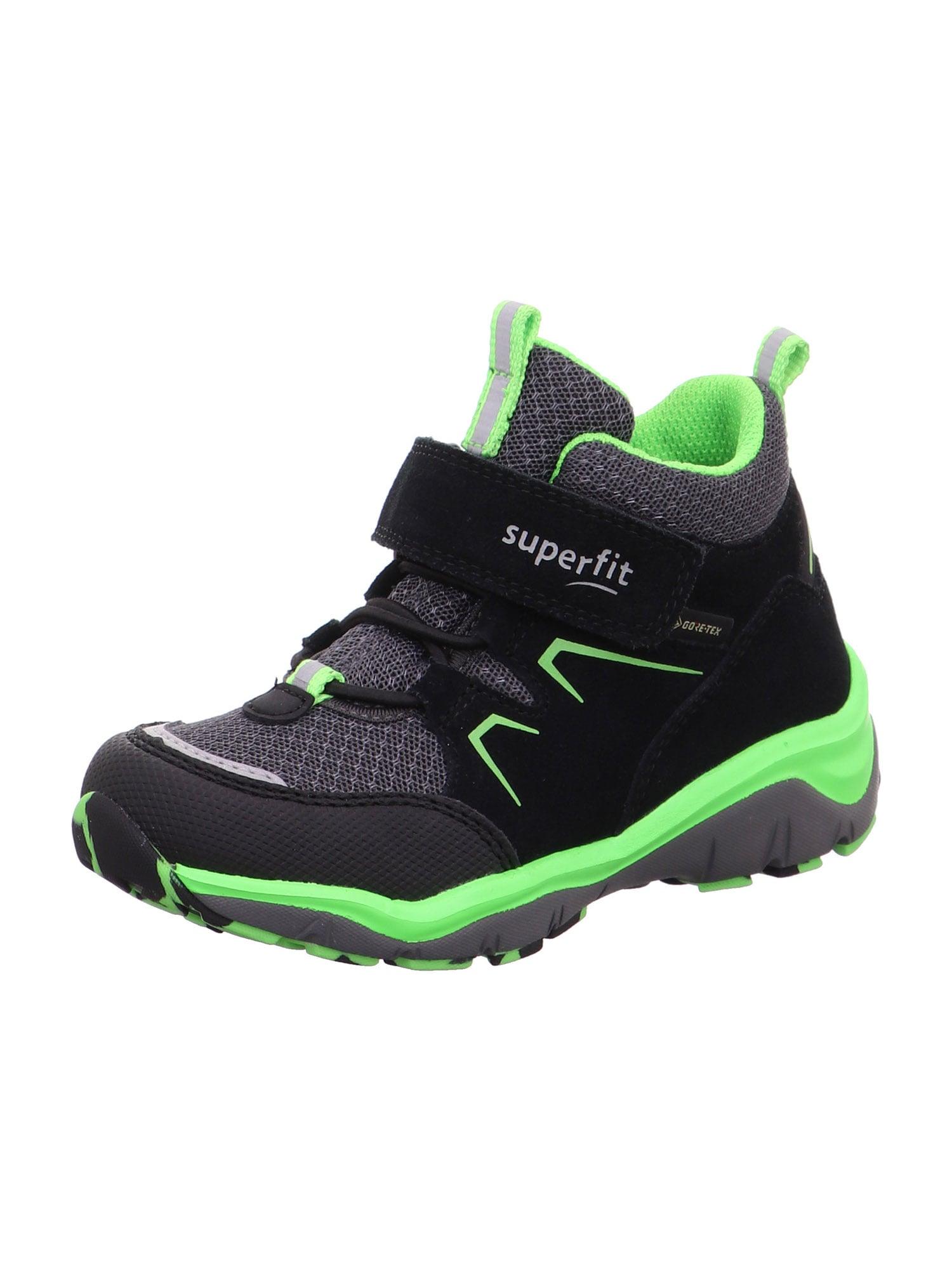 SUPERFIT Auliniai juoda / tamsiai pilka / neoninė žalia