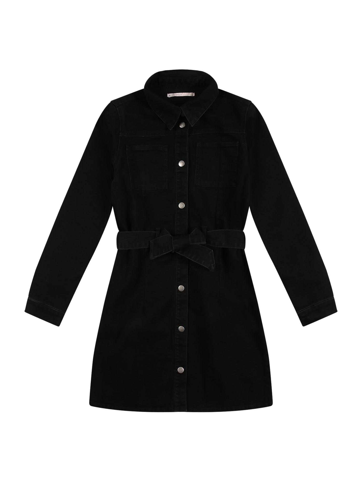 KIDS ONLY Suknelė juodo džinso spalva