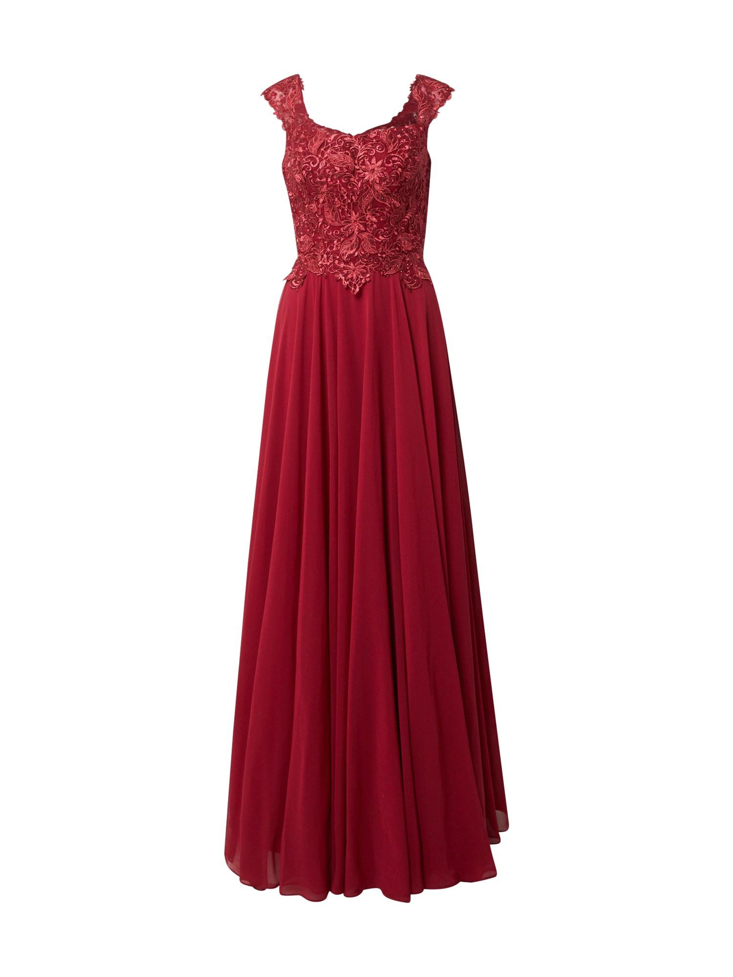 LUXUAR Vakarinė suknelė vyno raudona spalva