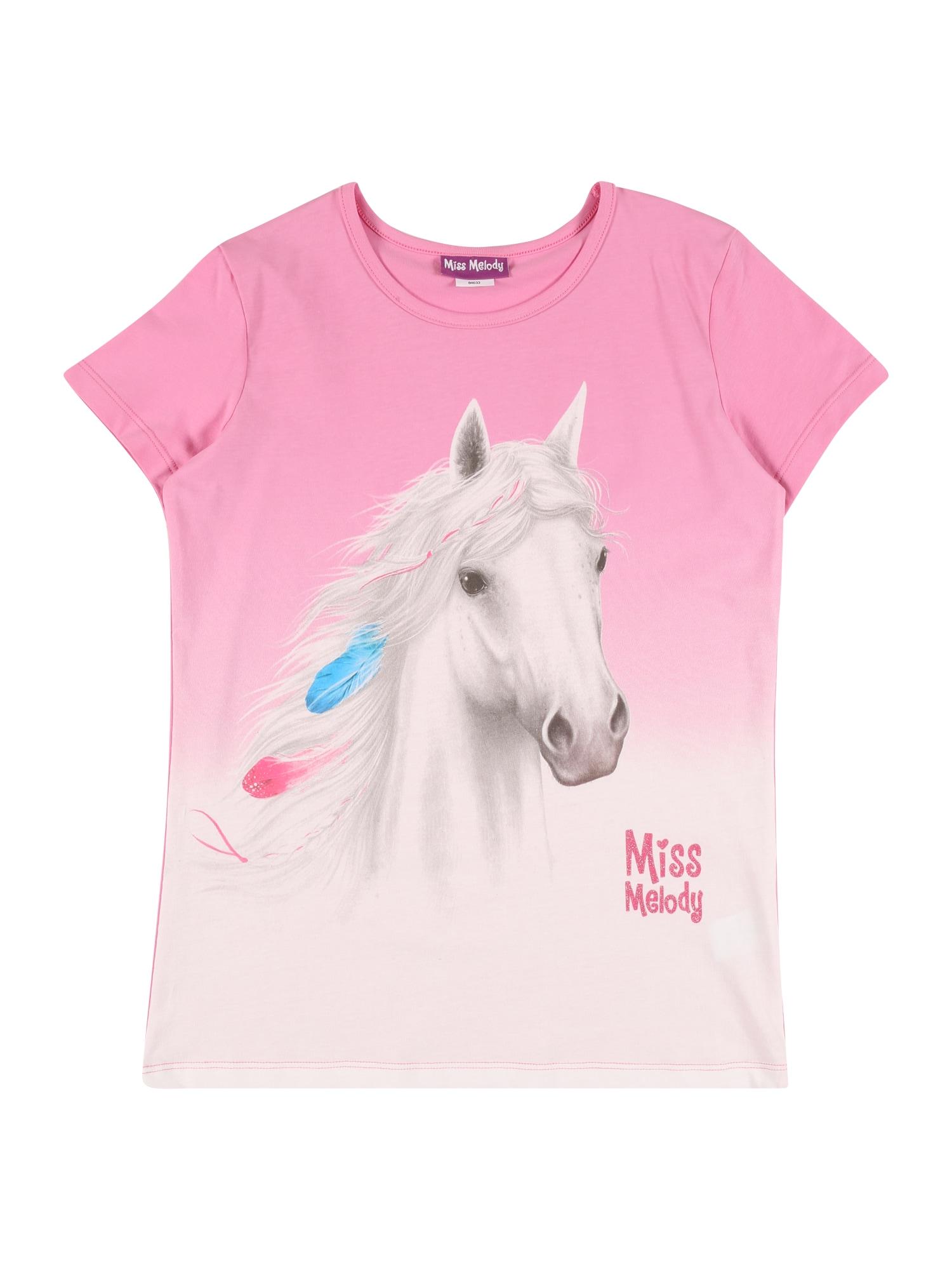Miss Melody Marškinėliai rožinė / balta / mėlyna