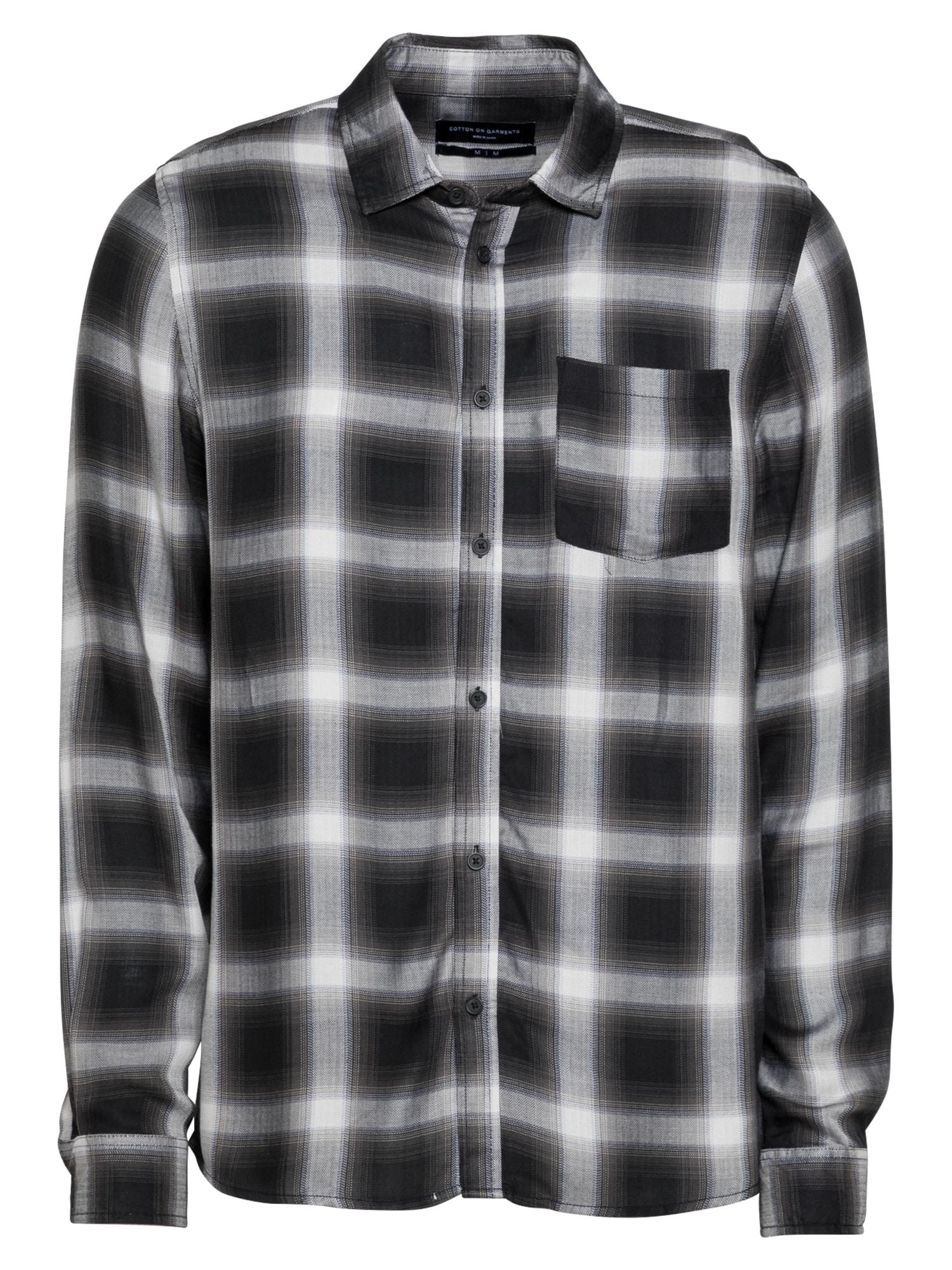 Cotton On Marškiniai balta / juoda