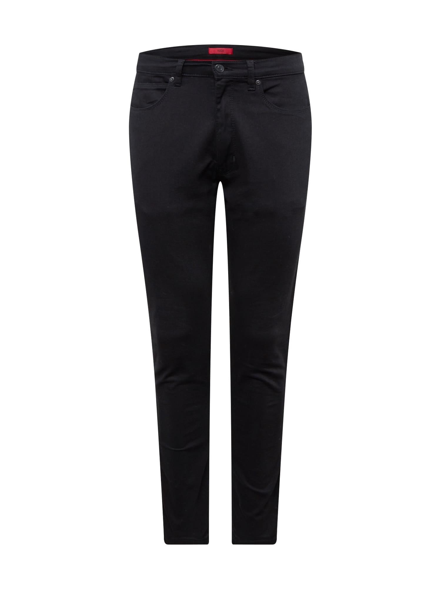 HUGO Džinsai juodo džinso spalva