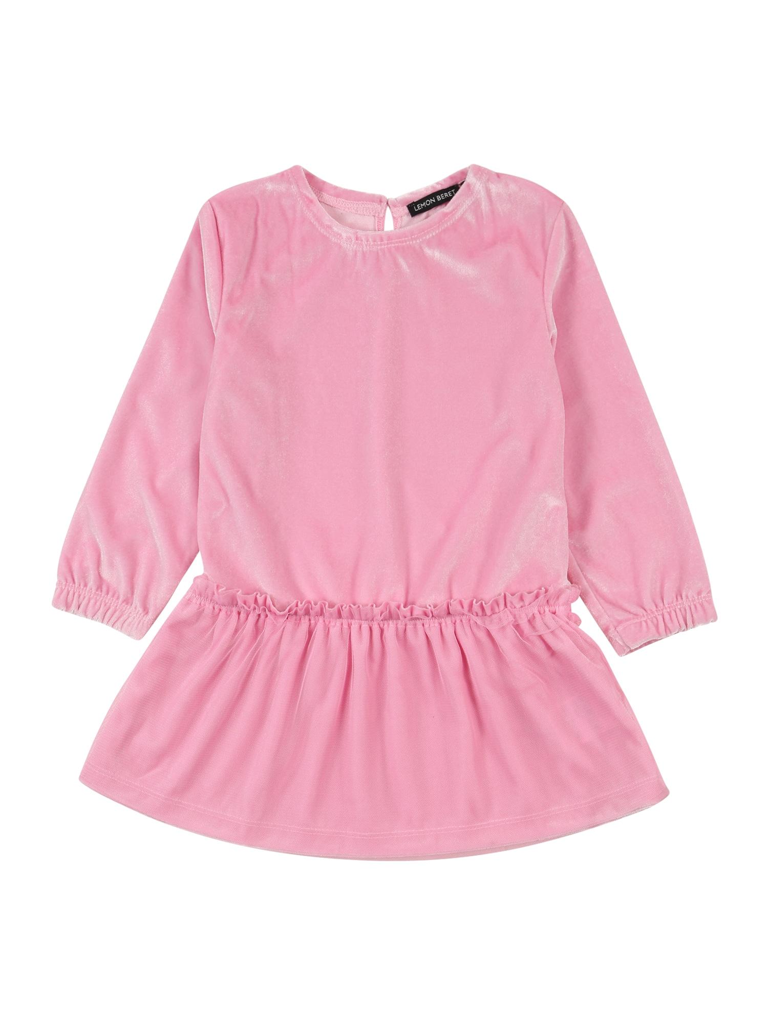 LEMON BERET Suknelė rožinė