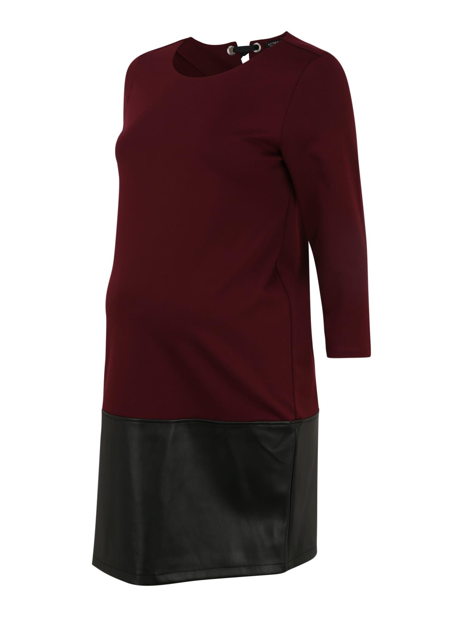 Attesa Suknelė vyšninė spalva / juoda