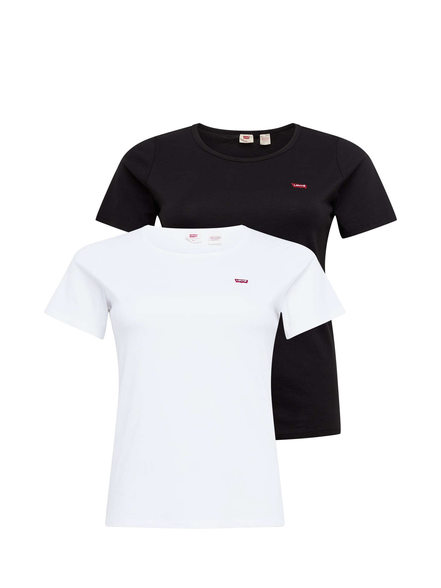 Levi's® Plus Tričko  bílá / černá