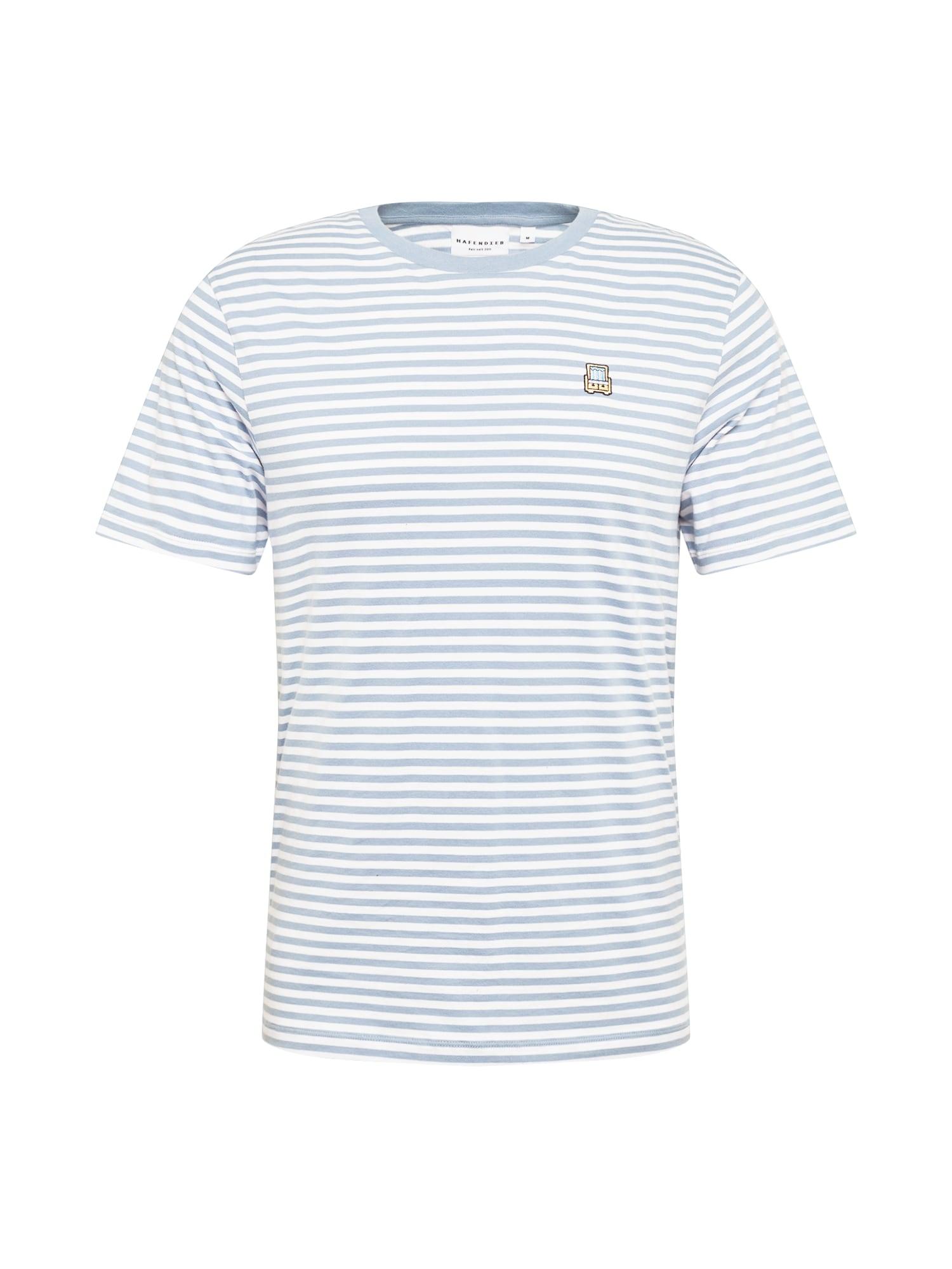 Hafendieb Marškinėliai pastelinė geltona / balta / juoda / šviesiai mėlyna