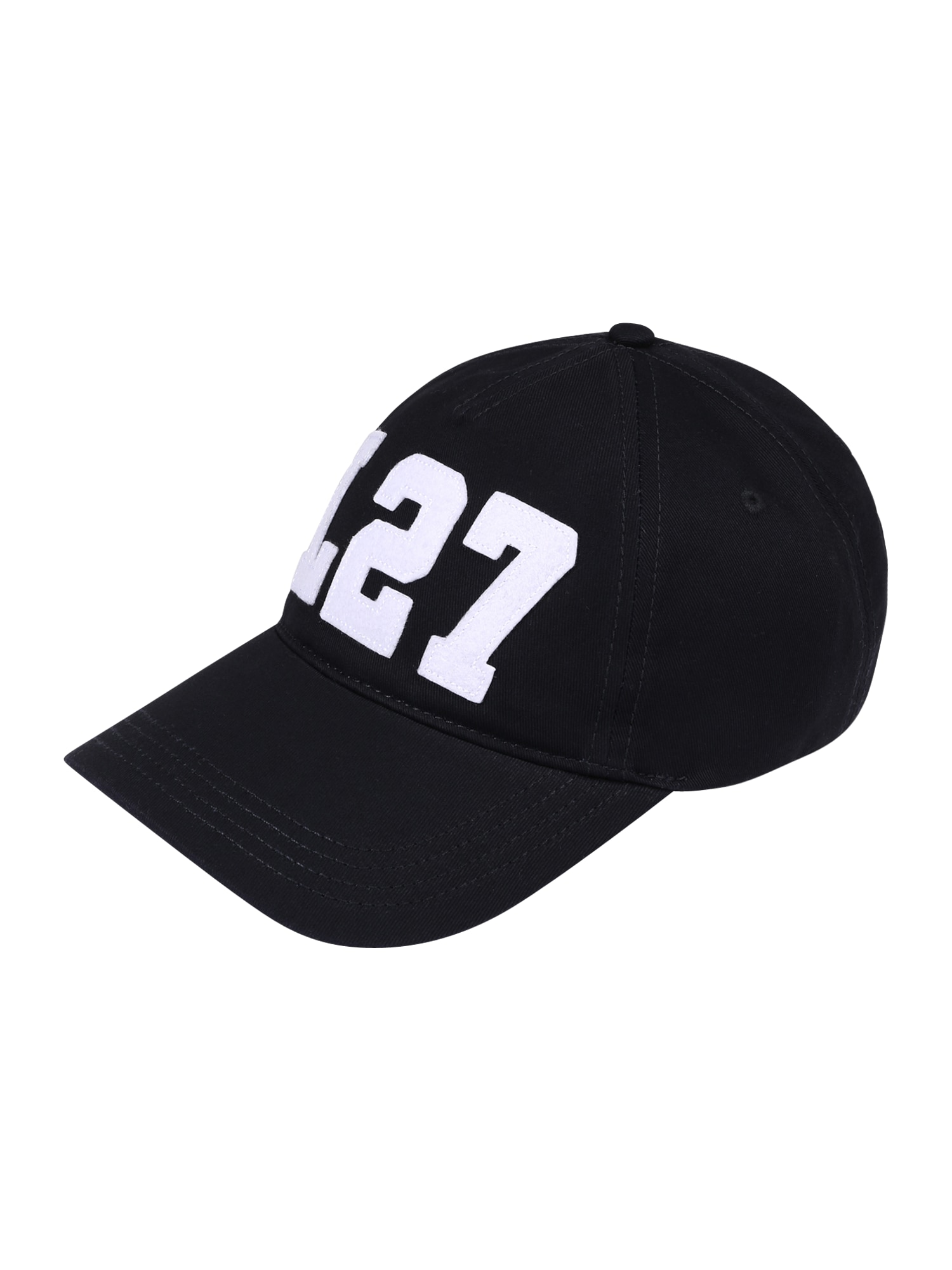 LACOSTE Kepurė juoda / balta