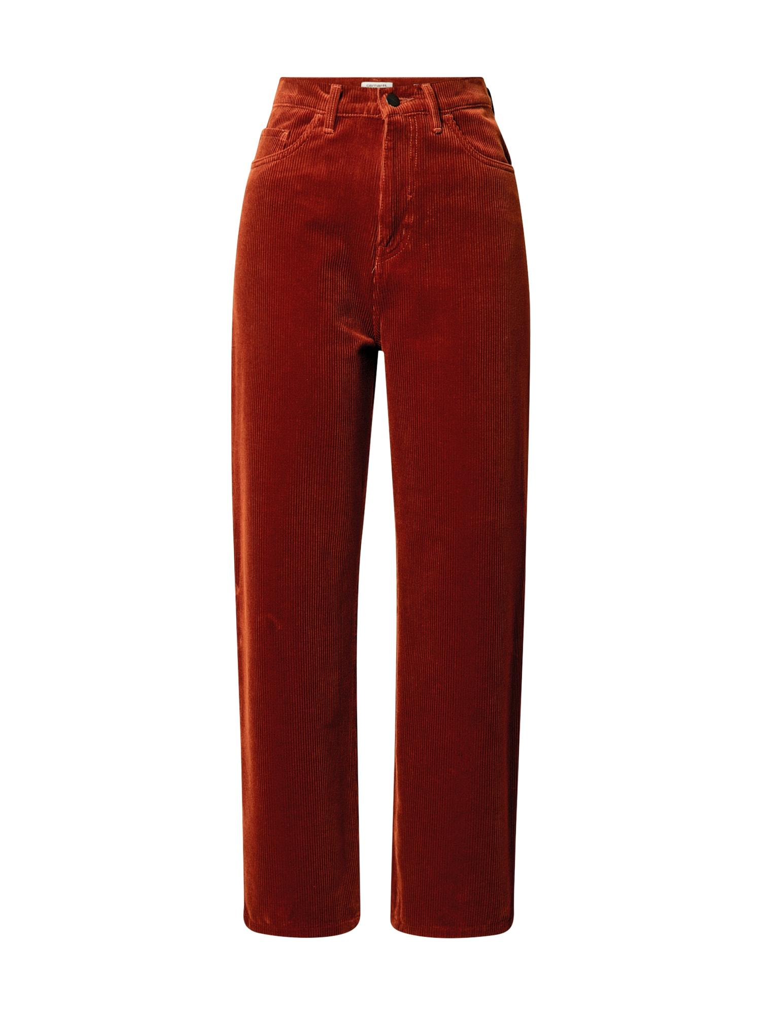 Carhartt WIP Kelnės ' Newport ' ruda (konjako)