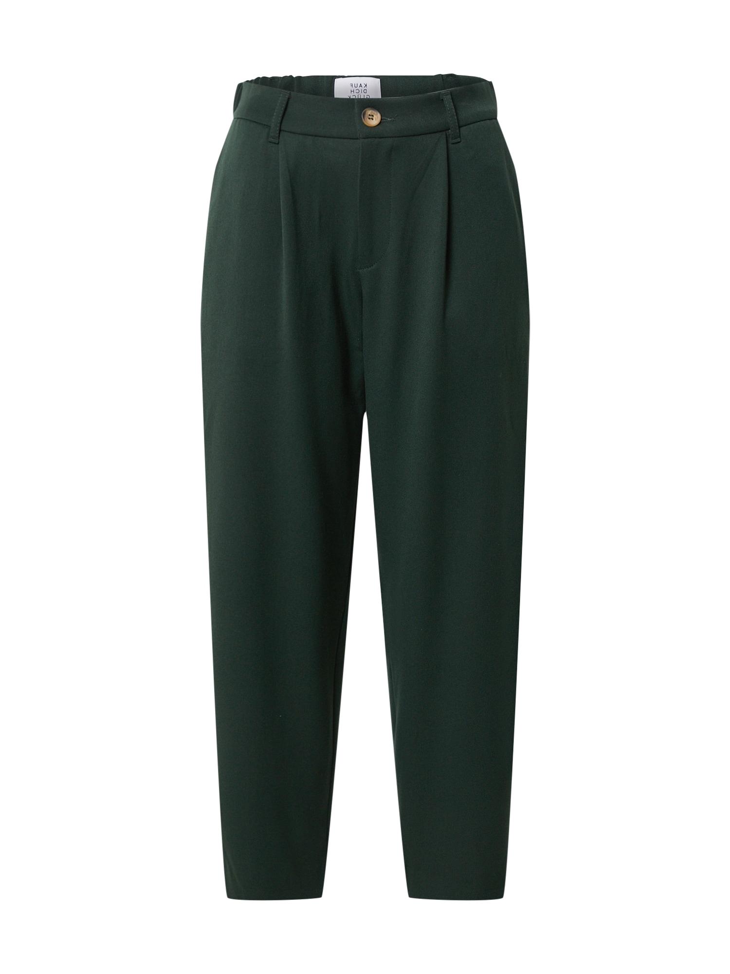 Kauf Dich Glücklich Klostuotos kelnės tamsiai žalia