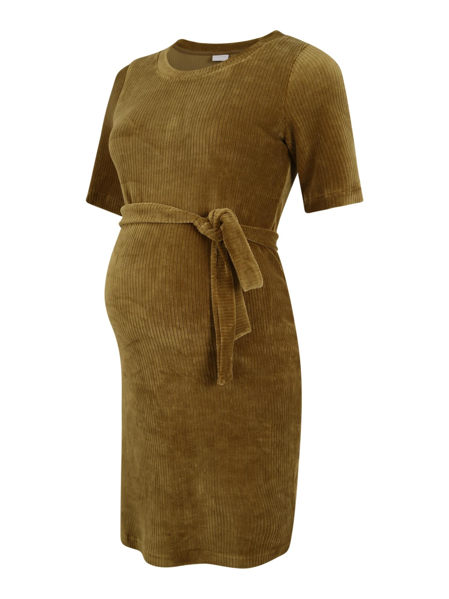 MAMALICIOUS Suknelė rusvai žalia