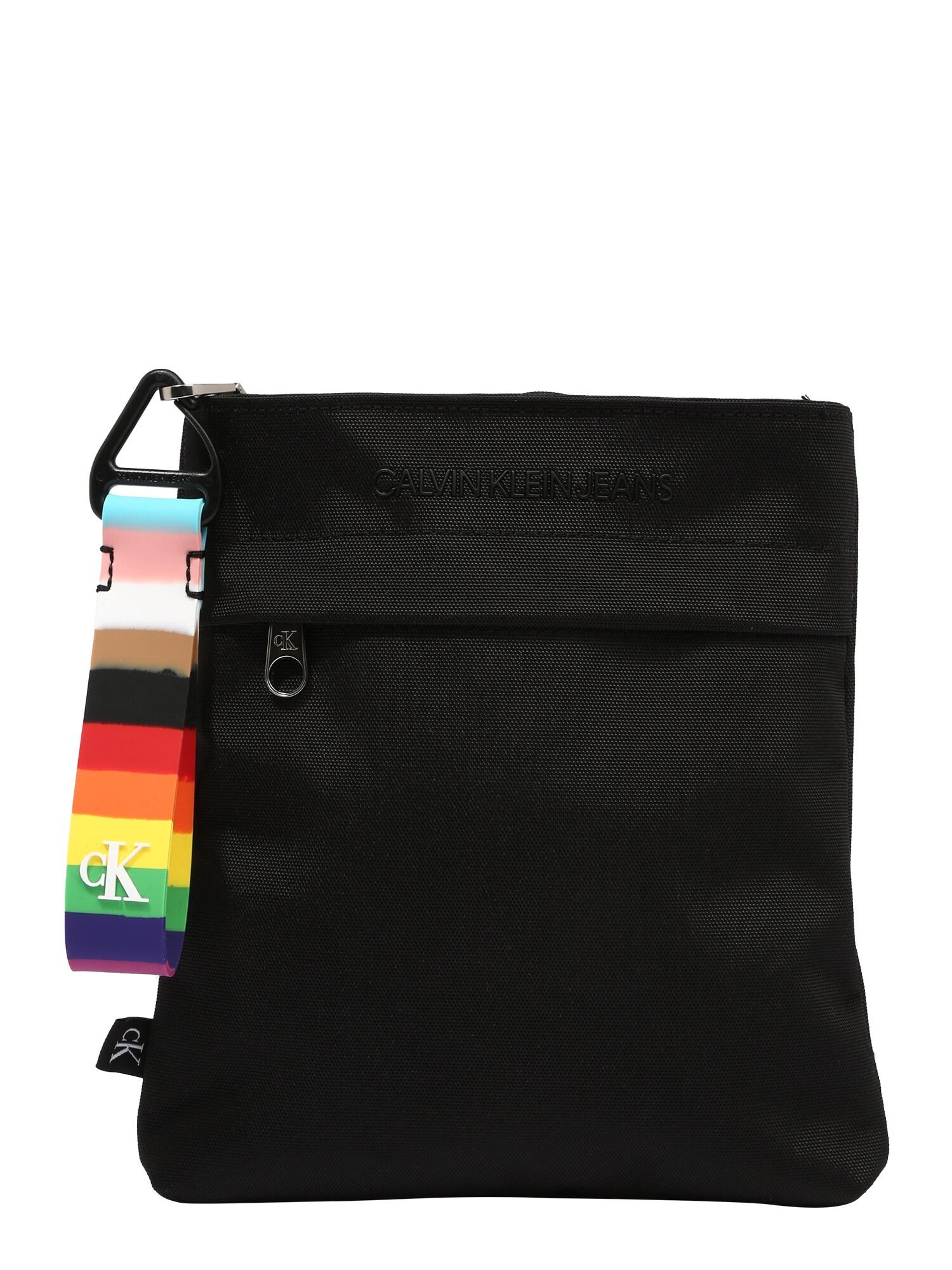 Calvin Klein Jeans Rankinė su ilgu dirželiu 'PRIDE' juoda / mišrios spalvos