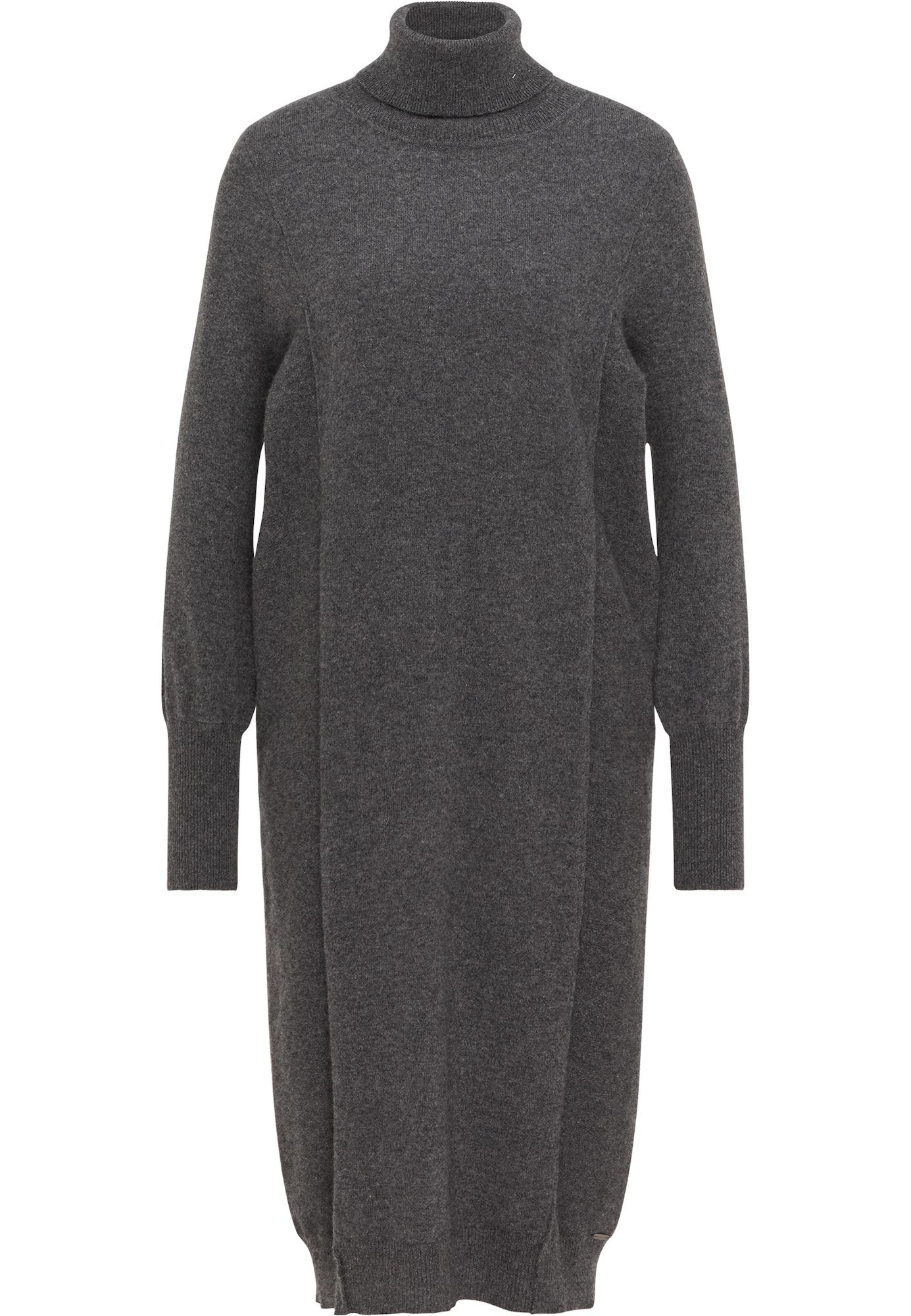 DreiMaster PREMIUM Megzta suknelė antracito