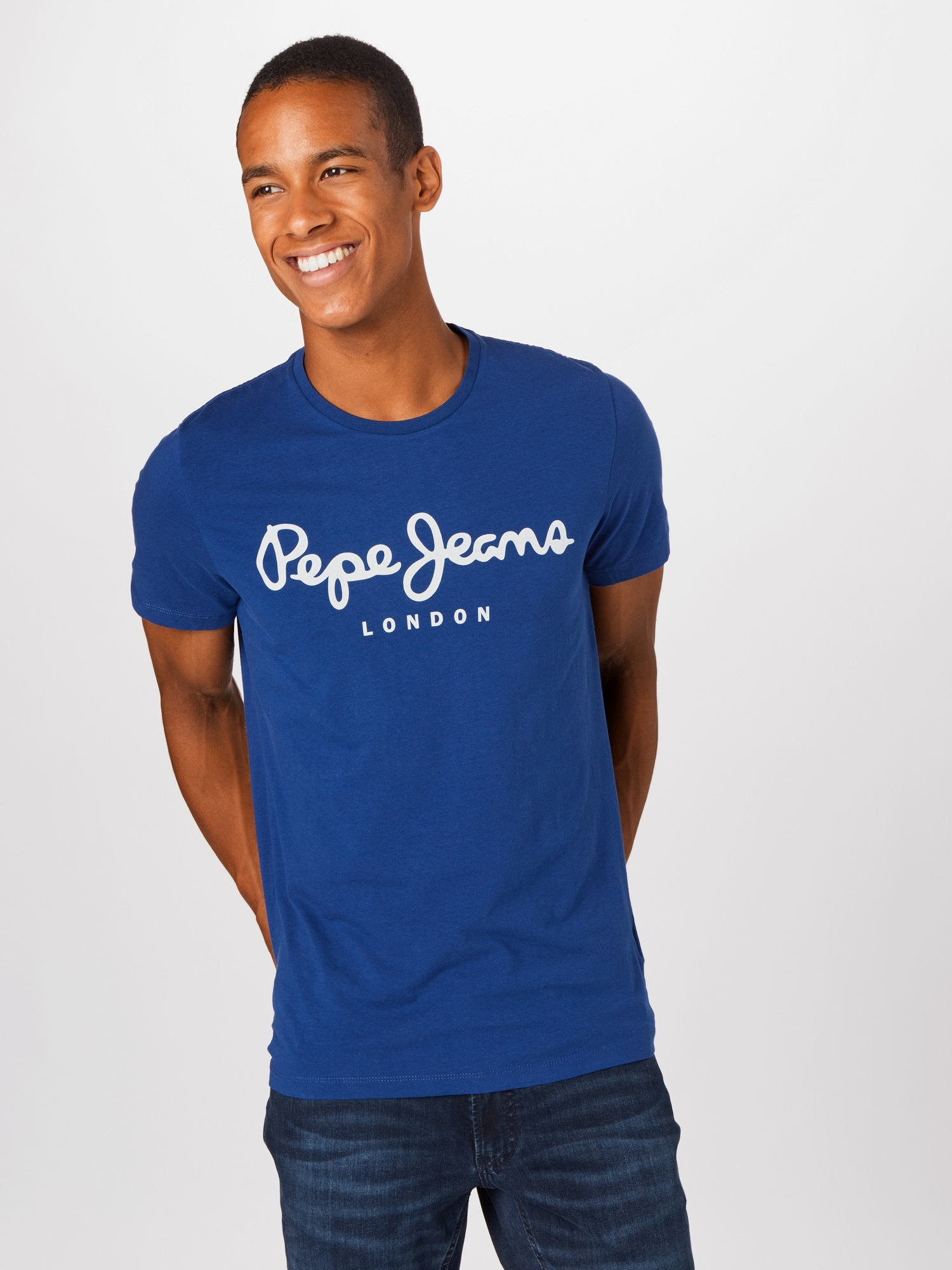 Pepe Jeans T-shirt  mörkblå / vit