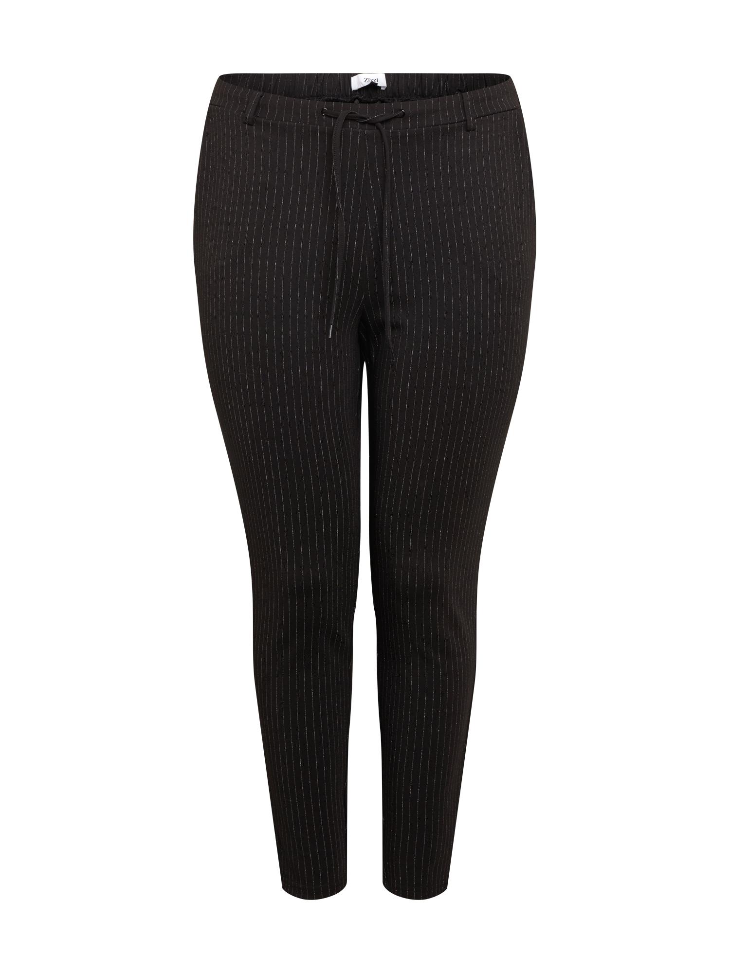 Zizzi Kalhoty  černá / bílá