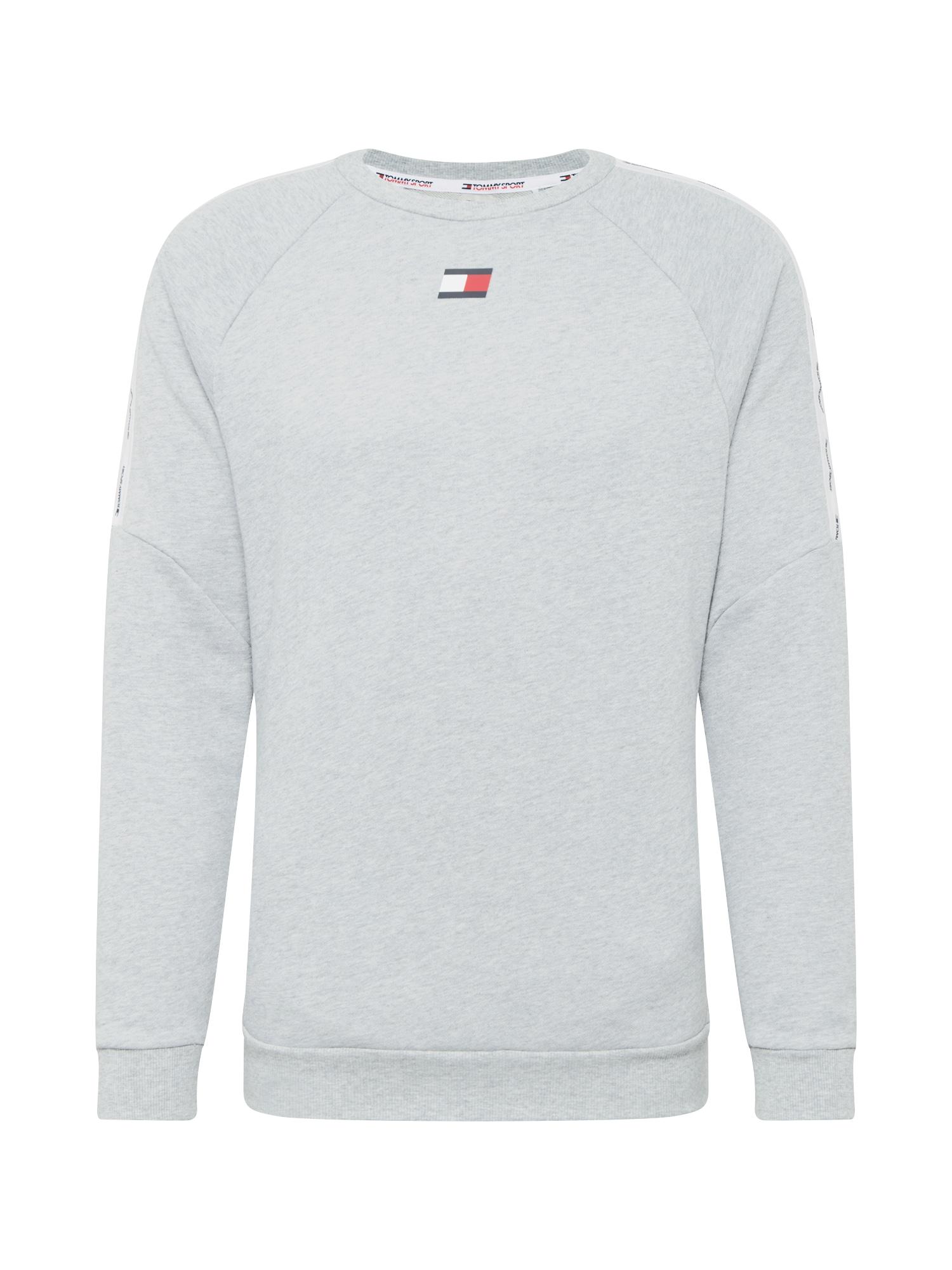Tommy Sport Sportovní mikina  šedá / bílá / červená / tmavě modrá