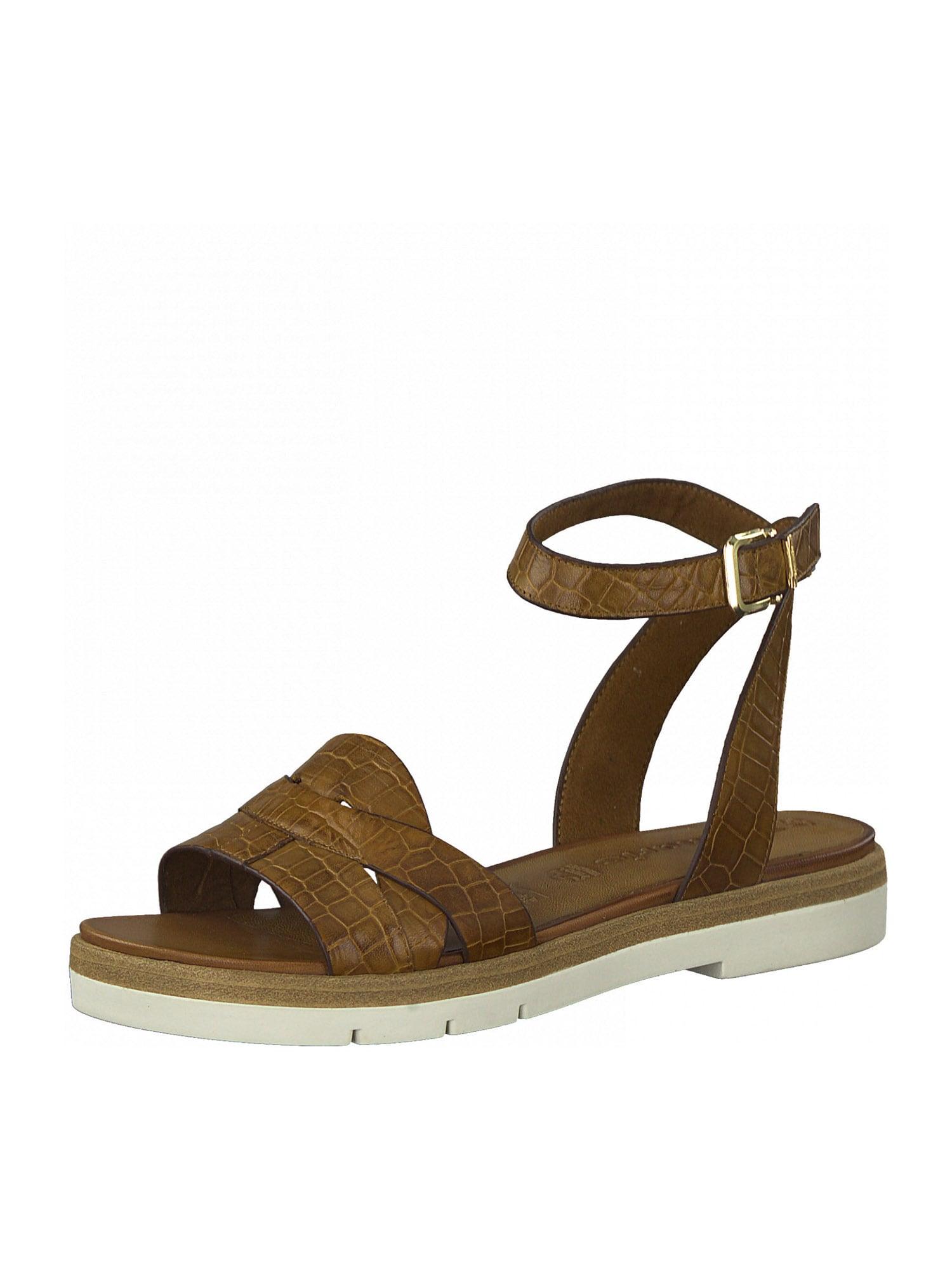 TAMARIS Páskové sandály  hnědý melír