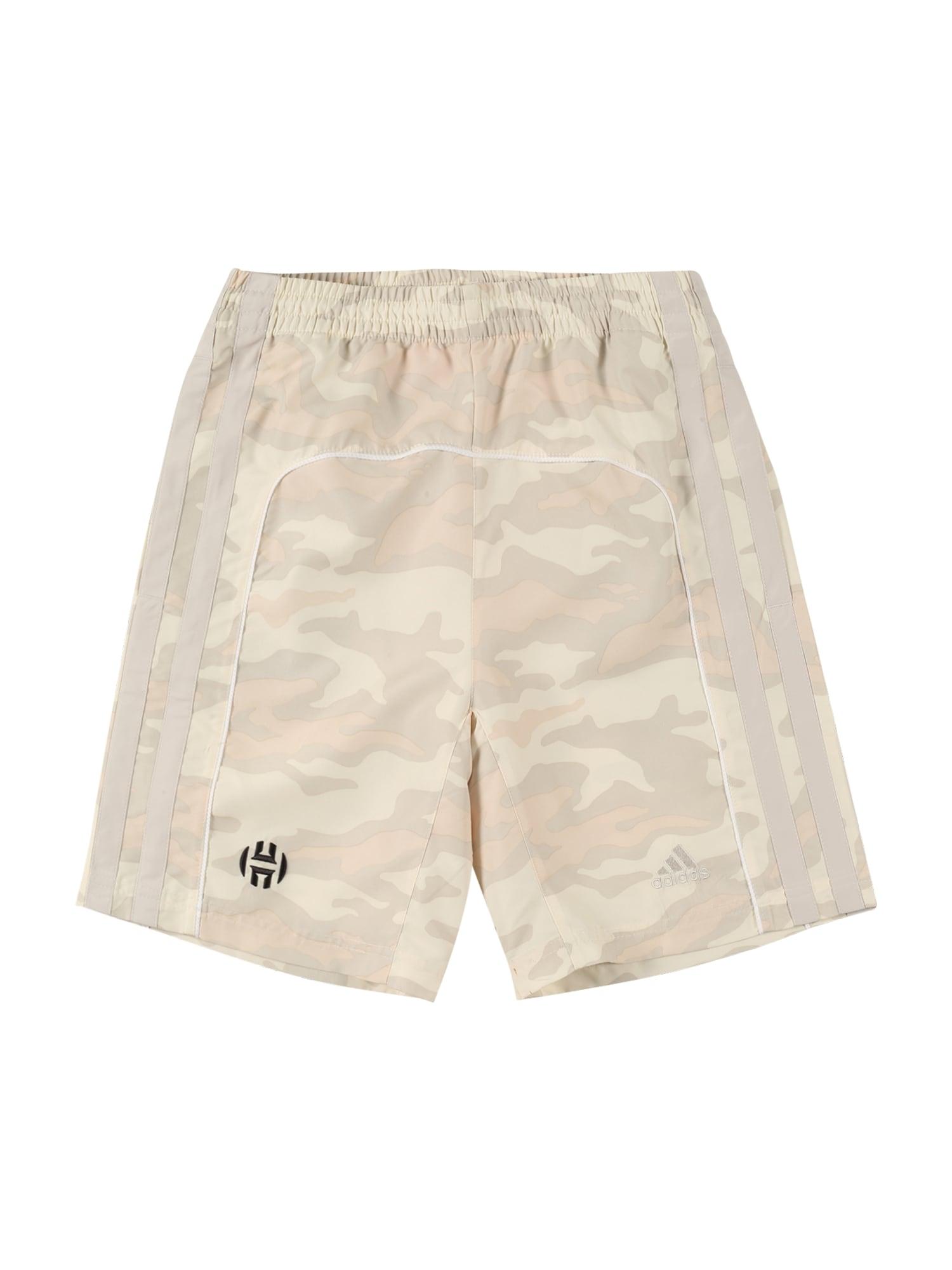 ADIDAS PERFORMANCE Sportinės kelnės balta / smėlio spalva / gelsvai pilka spalva