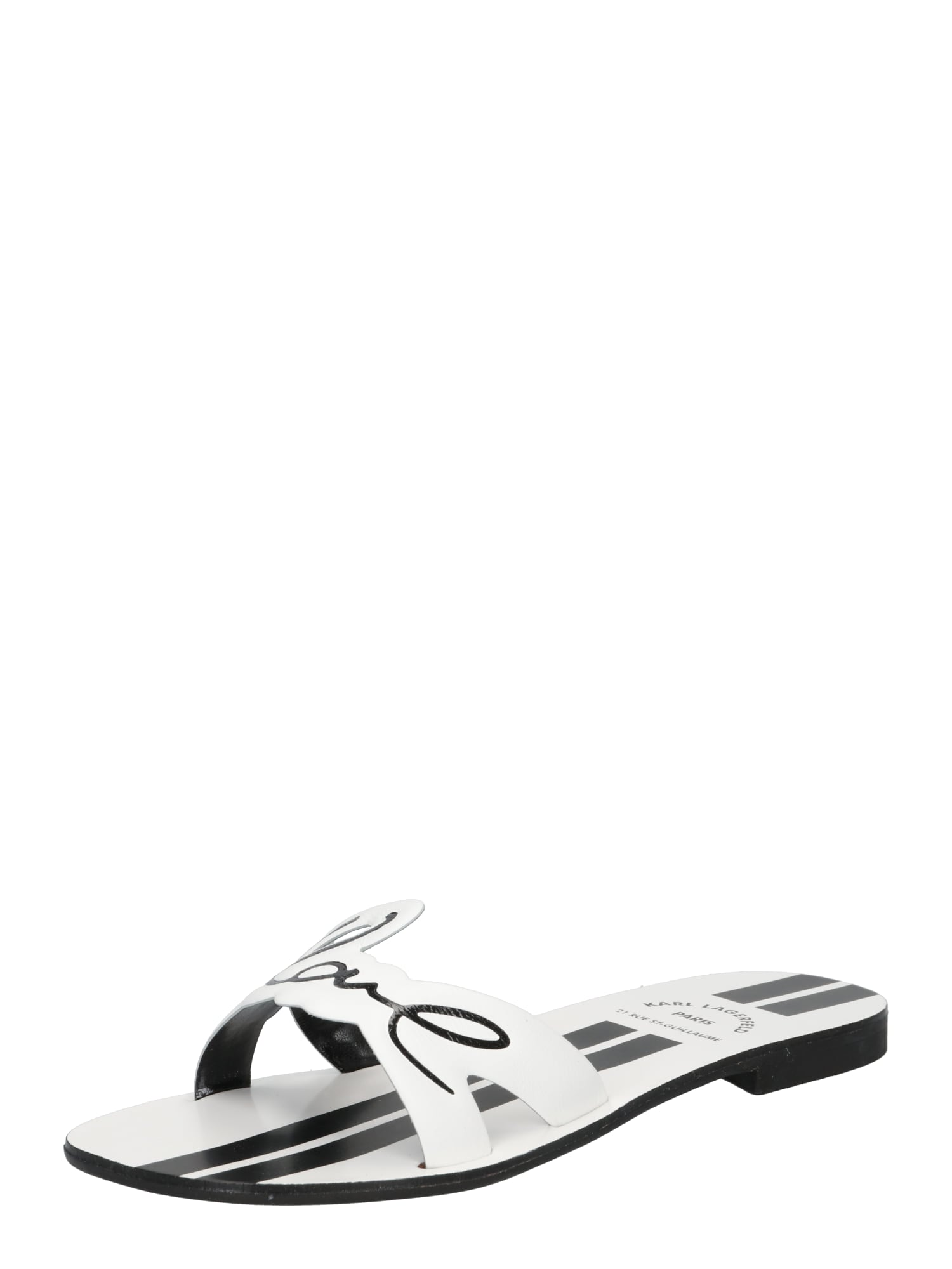 Karl Lagerfeld Šlepetės balta / juoda