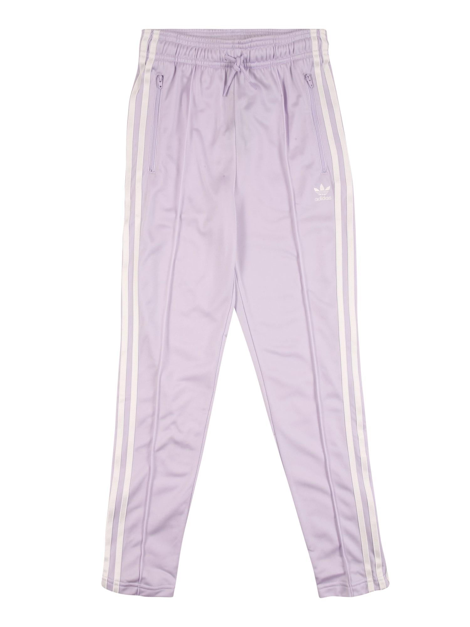 ADIDAS ORIGINALS Kalhoty  bílá / fialová