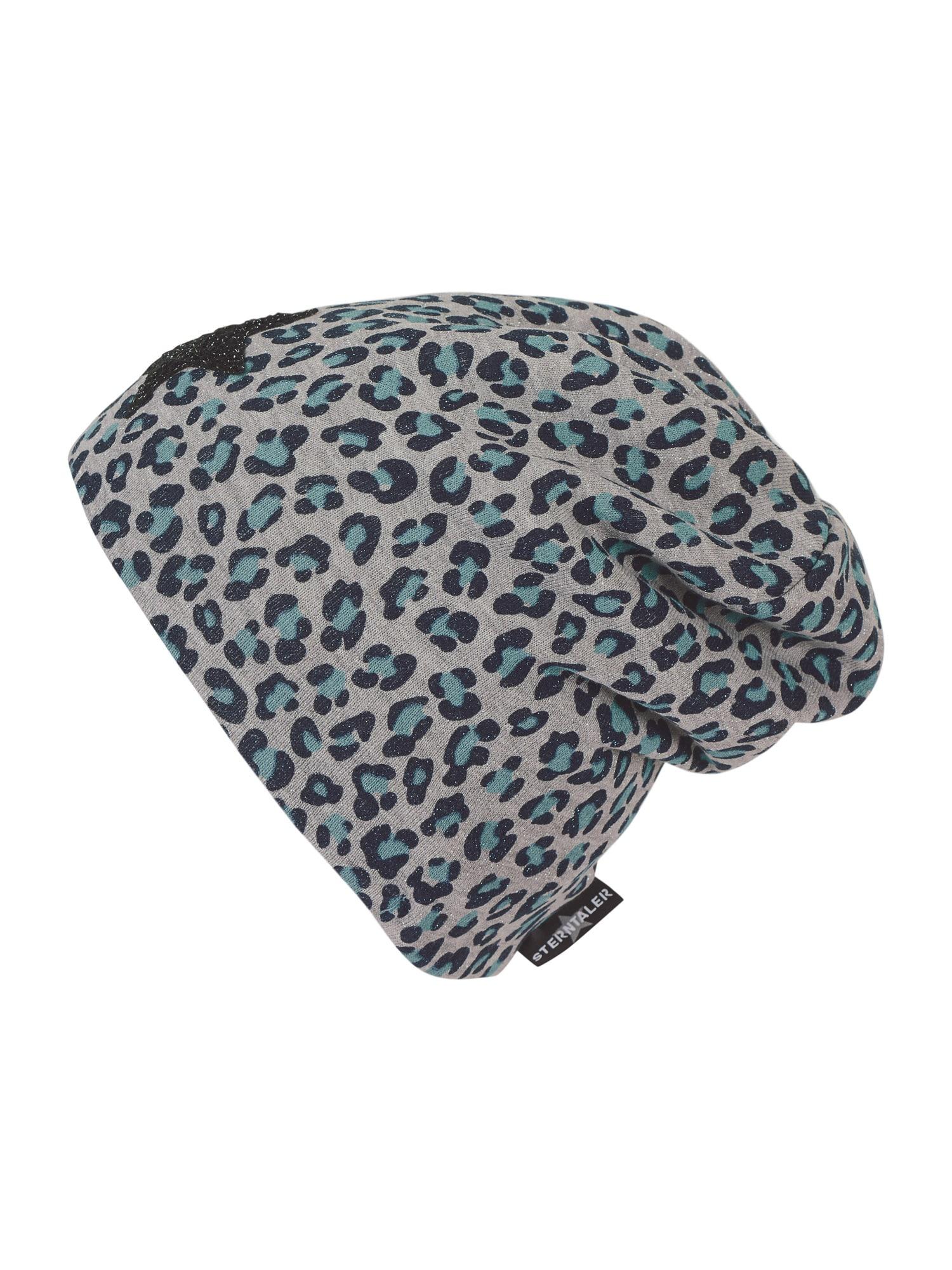 STERNTALER Megzta kepurė šviesiai pilka / šviesiai žalia / juoda