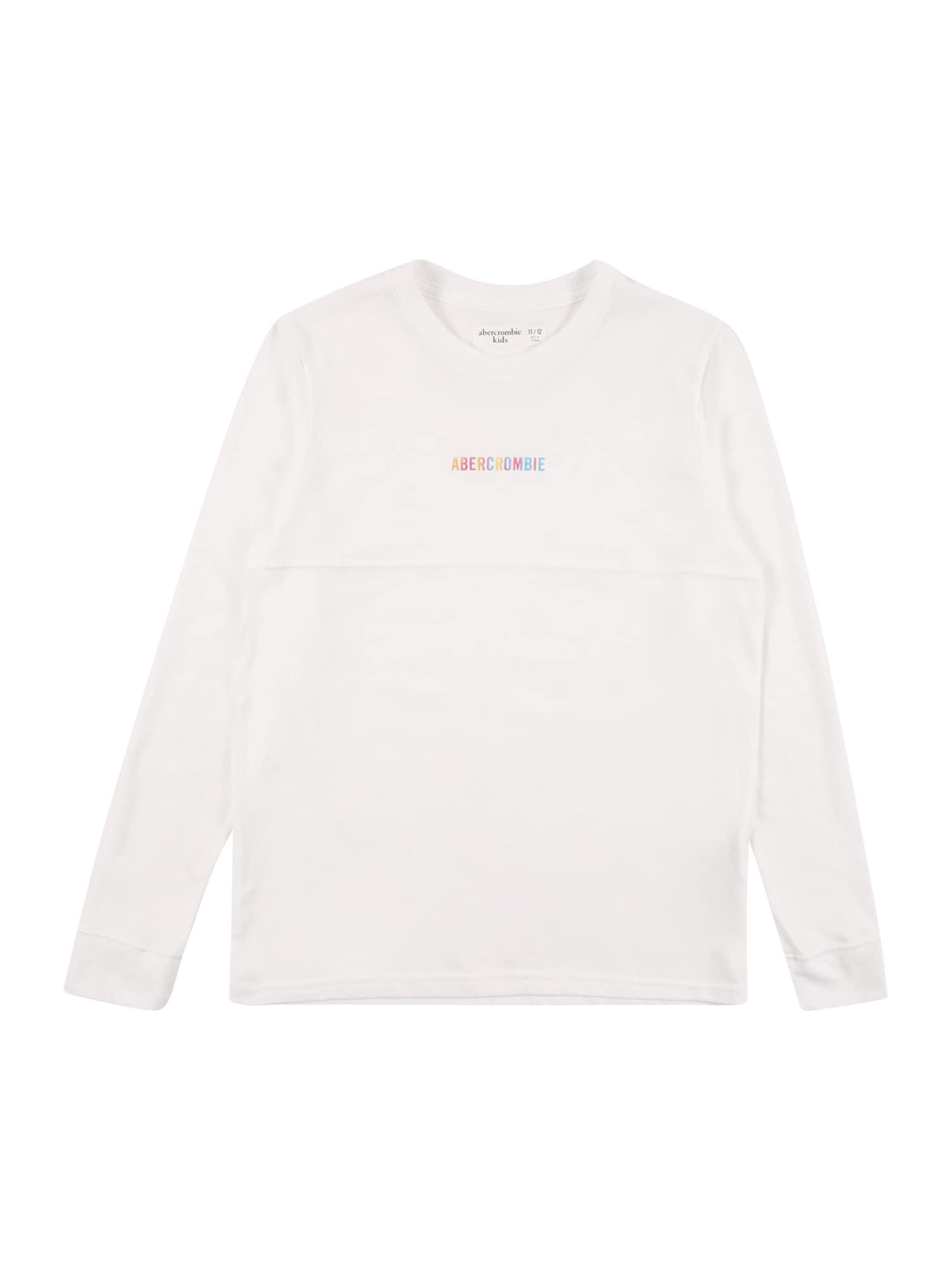 Abercrombie & Fitch Marškinėliai balta / mišrios spalvos