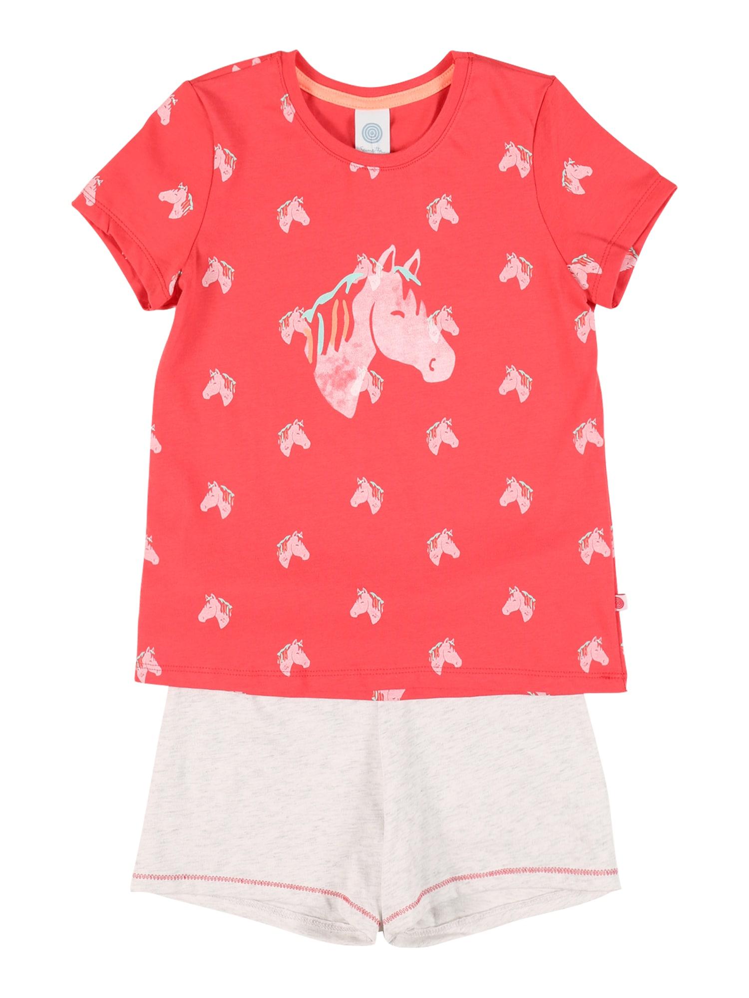 SANETTA Miego kostiumas koralų splava / balta / vandens spalva / šviesiai rožinė