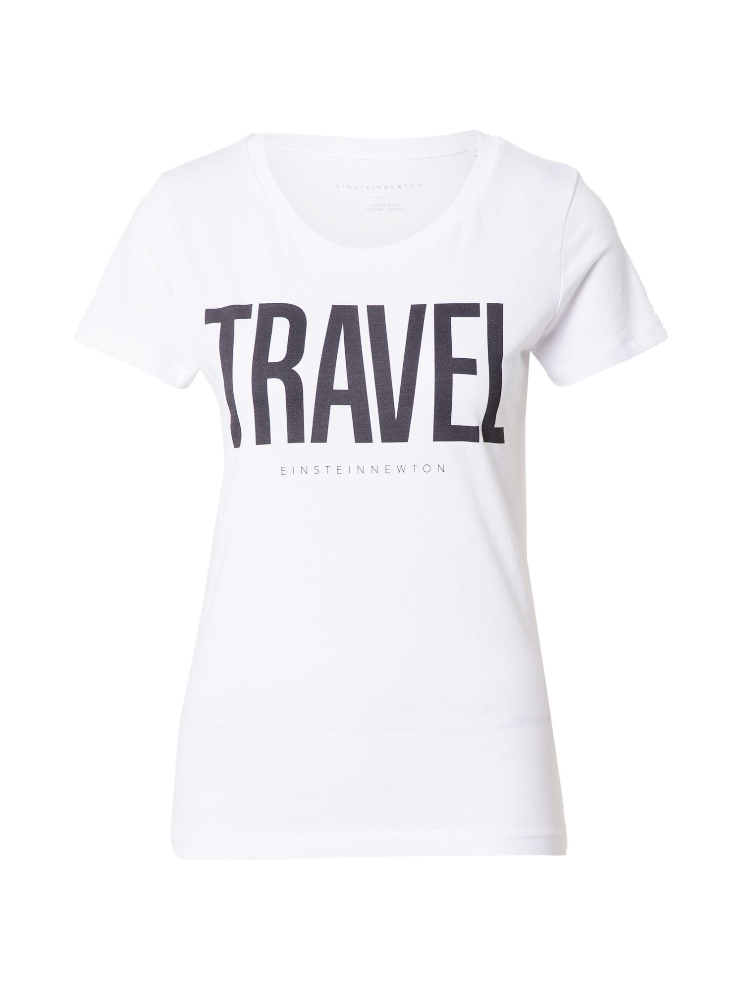 EINSTEIN & NEWTON Marškinėliai balta / tamsiai mėlyna