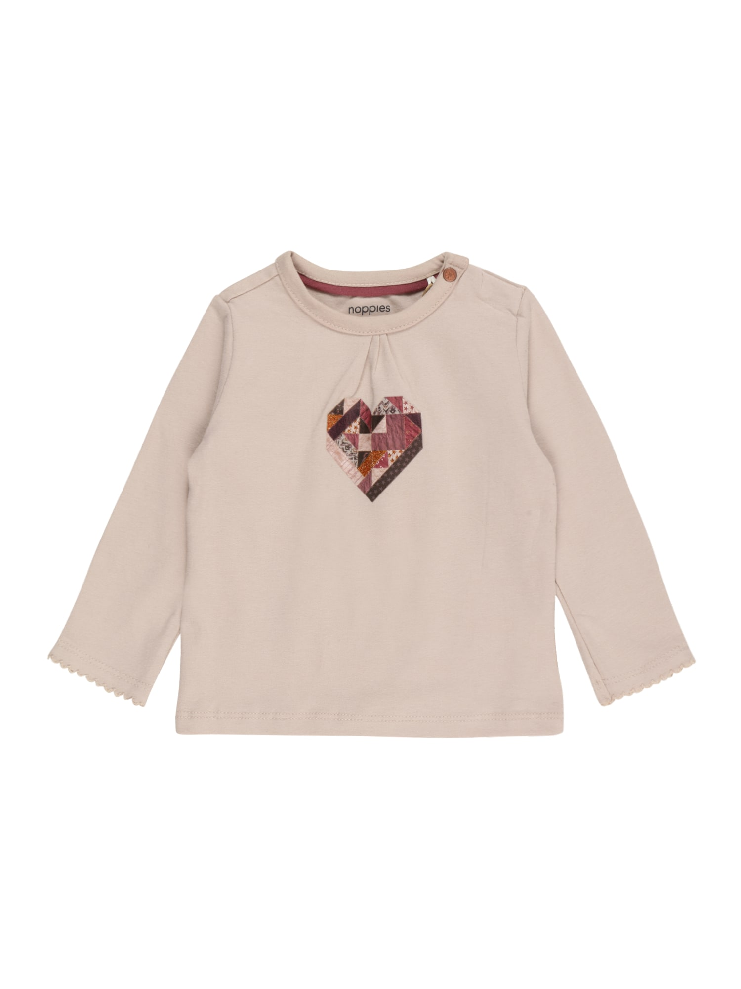 Noppies Tričko 'Sanford'  bílá / bordó / tmavě růžová / zlatá