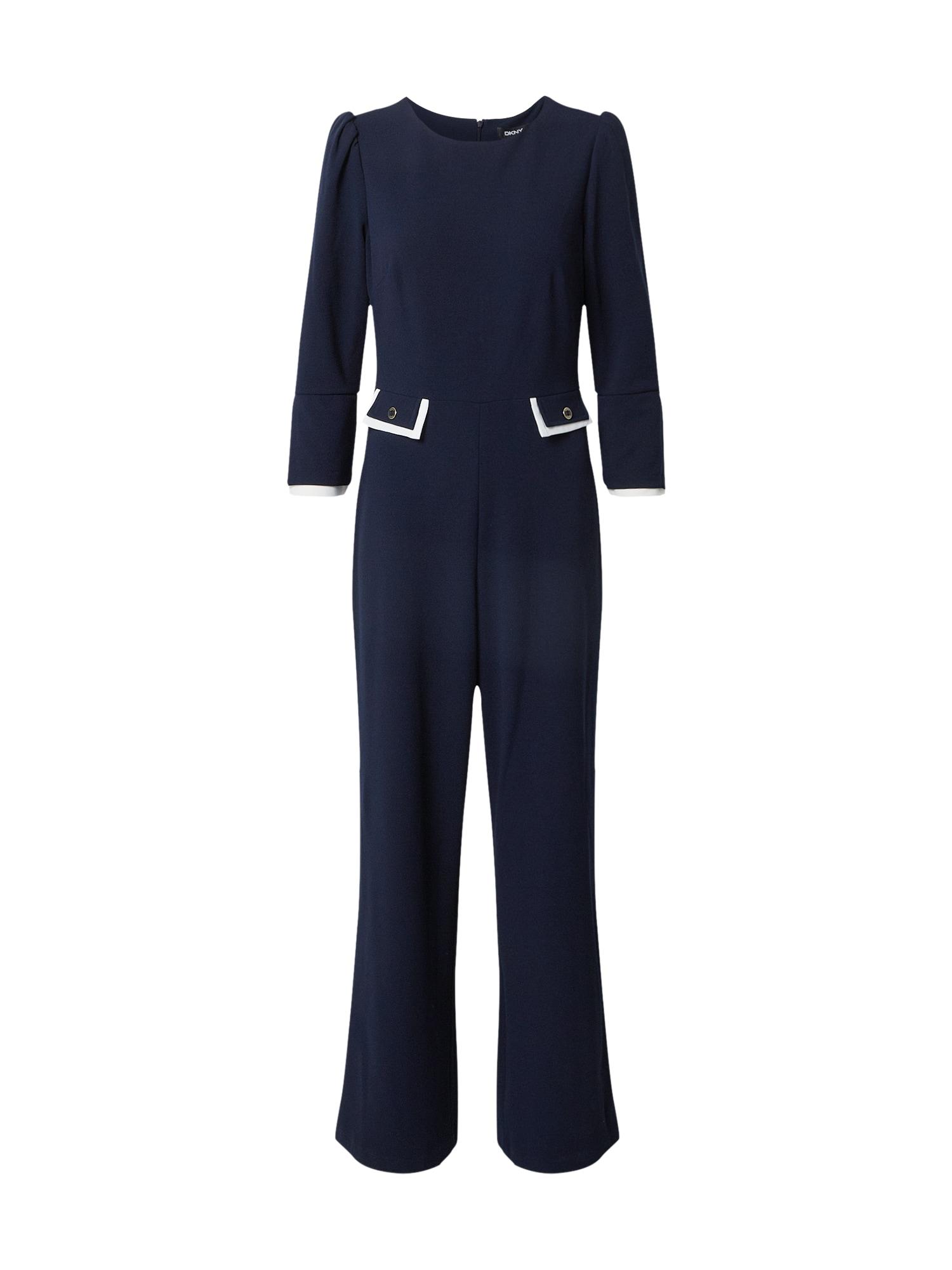 DKNY Vienos dalies kostiumas tamsiai mėlyna / balta