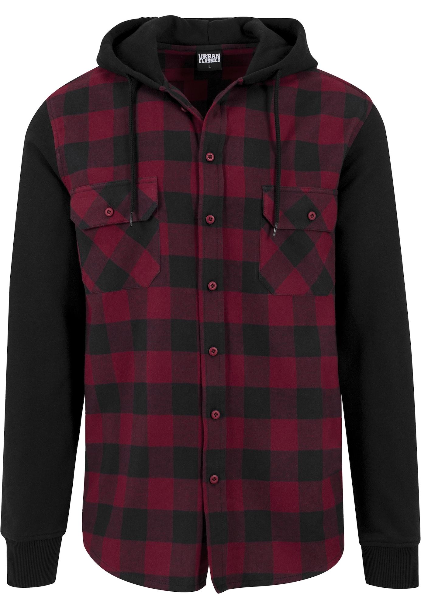 Urban Classics Džemperis juoda / skaisti avietinė ar rubino spalva