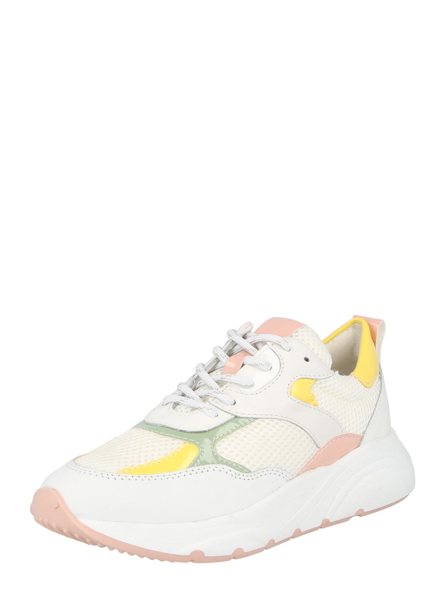 PS Poelman Sportbačiai be auliuko pastelinė geltona / geltona / ryškiai rožinė spalva / pastelinė žalia