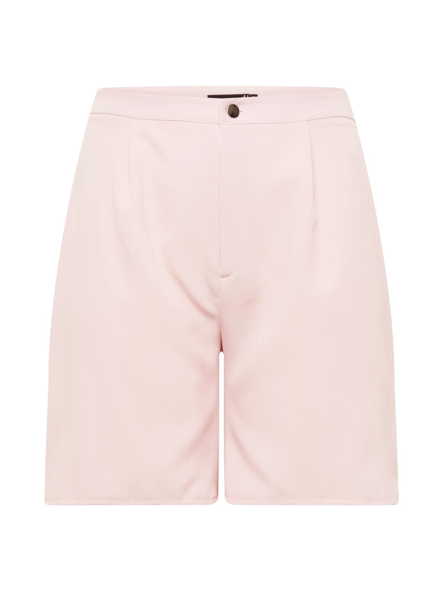 Missguided Plus Kelnės šviesiai rožinė