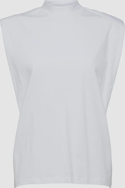 Selected Femme Leanne  High Neck T-Shirt mit Schulterpolster, Ärmellos