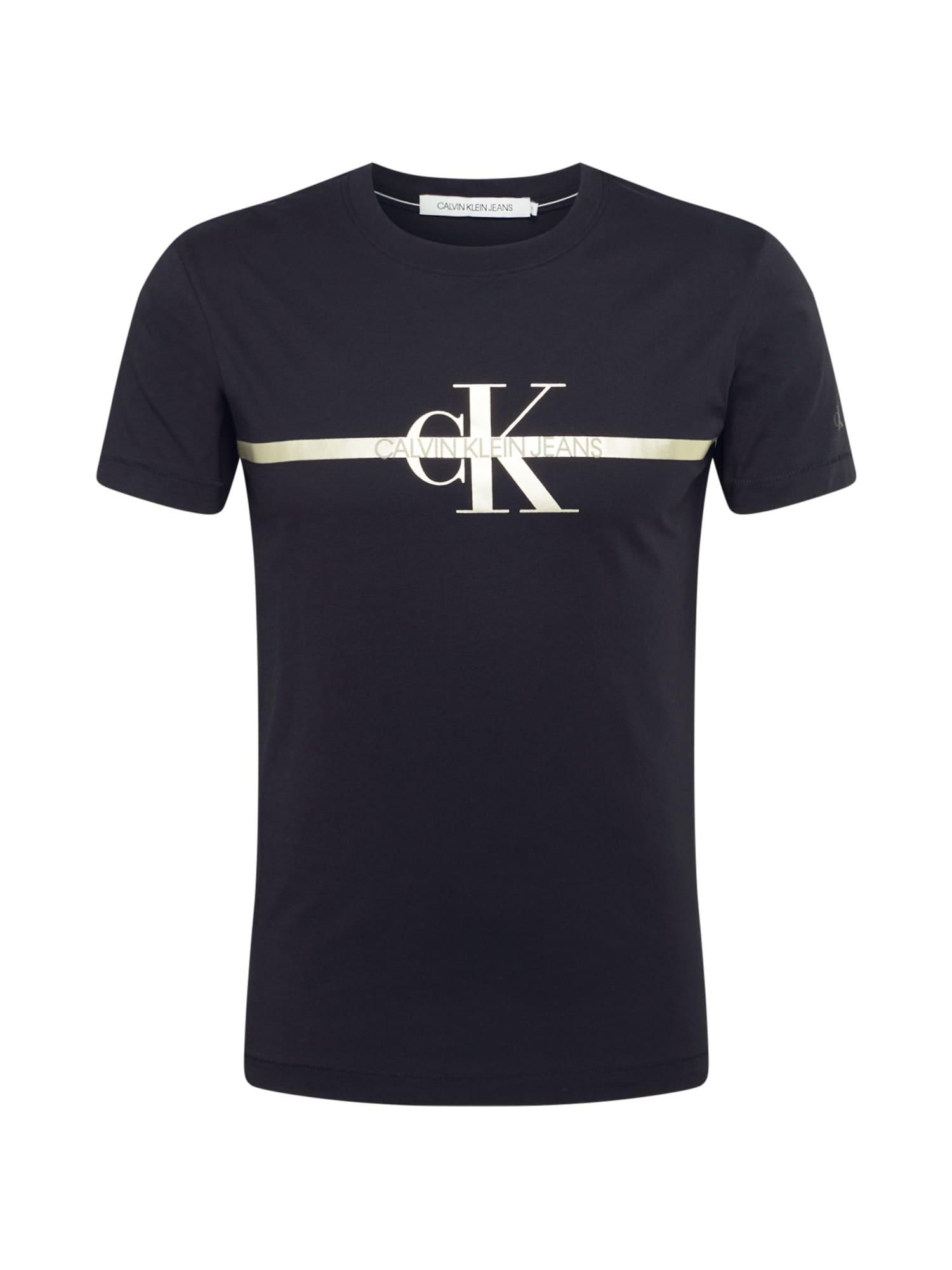 Calvin Klein Jeans Tričko  černá / zlatá