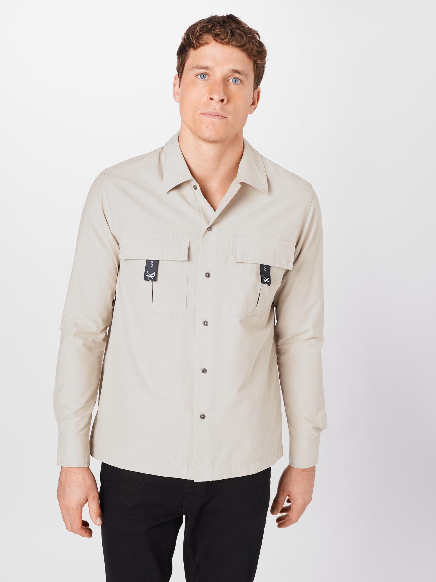 Calvin Klein Jeans Skjorta  grå / svart / grön
