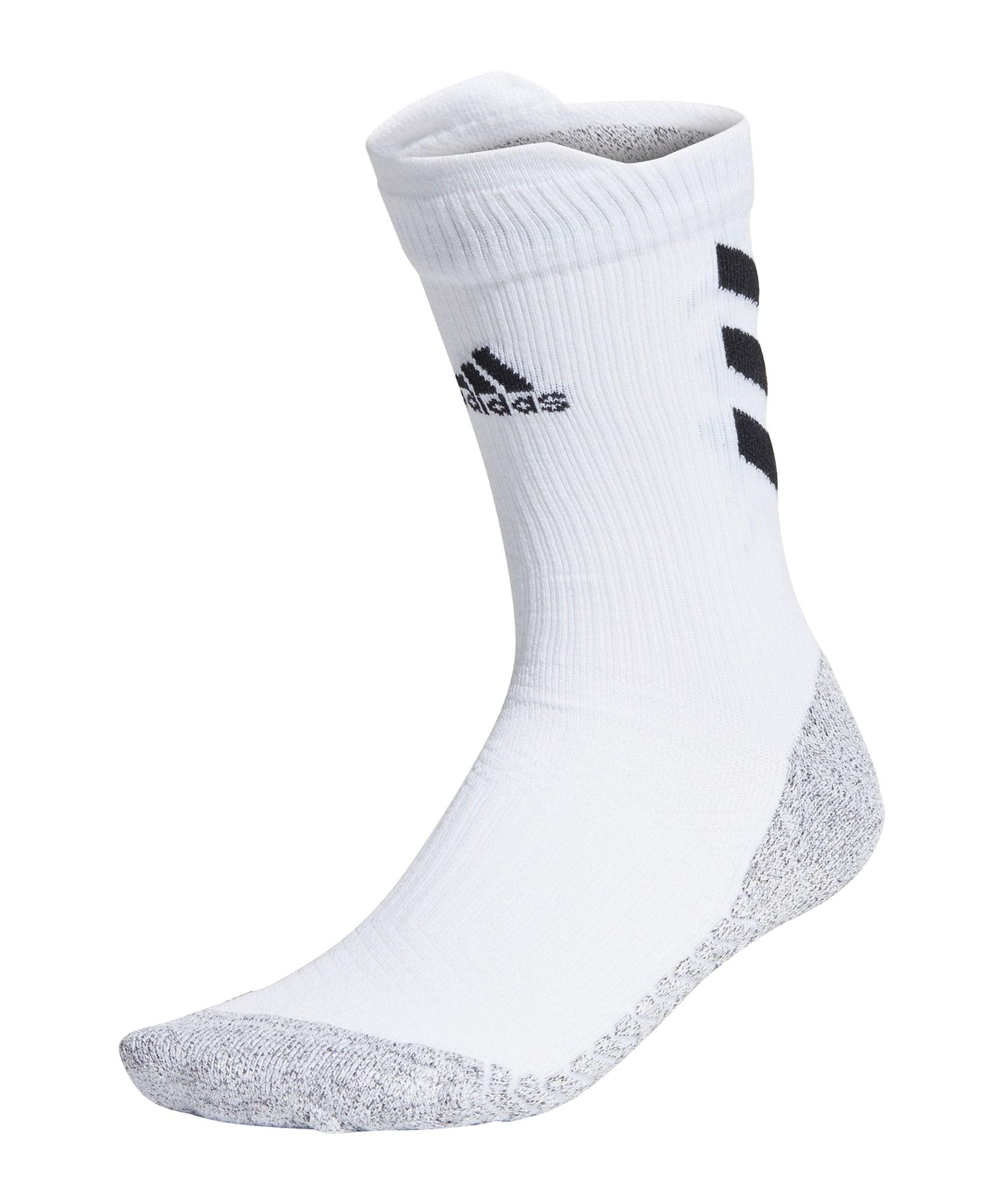 ADIDAS PERFORMANCE Sportinės kojinės balta / pilka / juoda