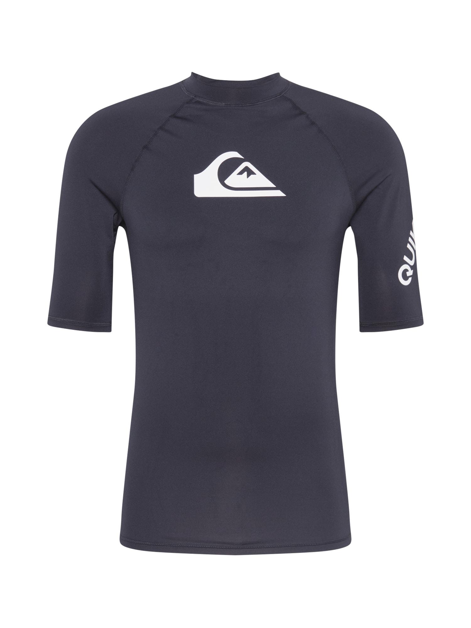 QUIKSILVER Funkční tričko 'ALL TIME'  černá / bílá