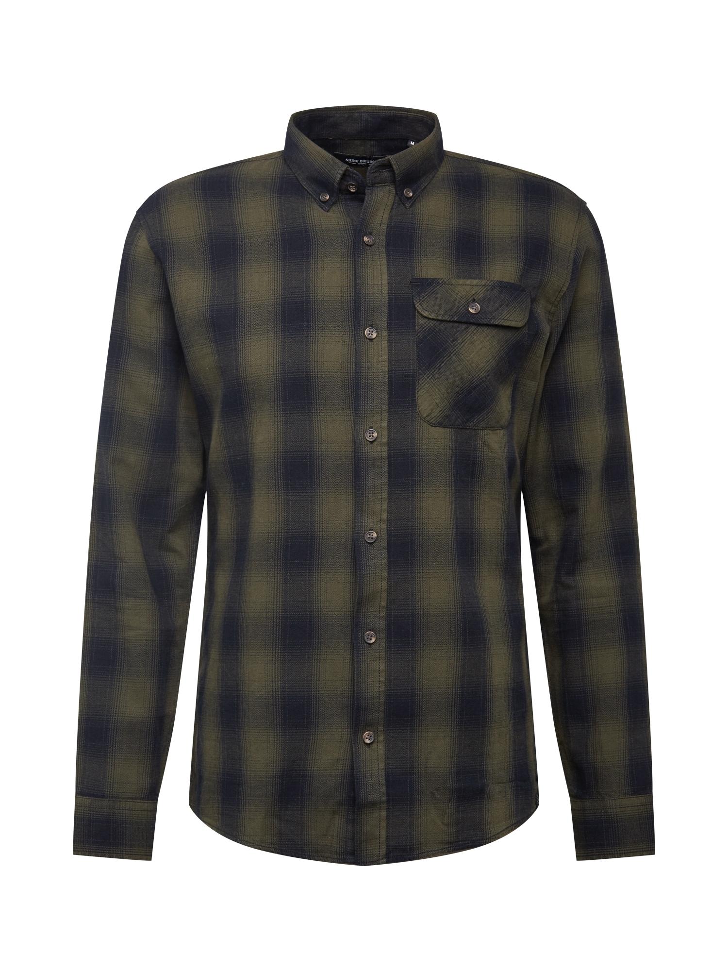 SHINE ORIGINAL Marškiniai rusvai žalia / juoda
