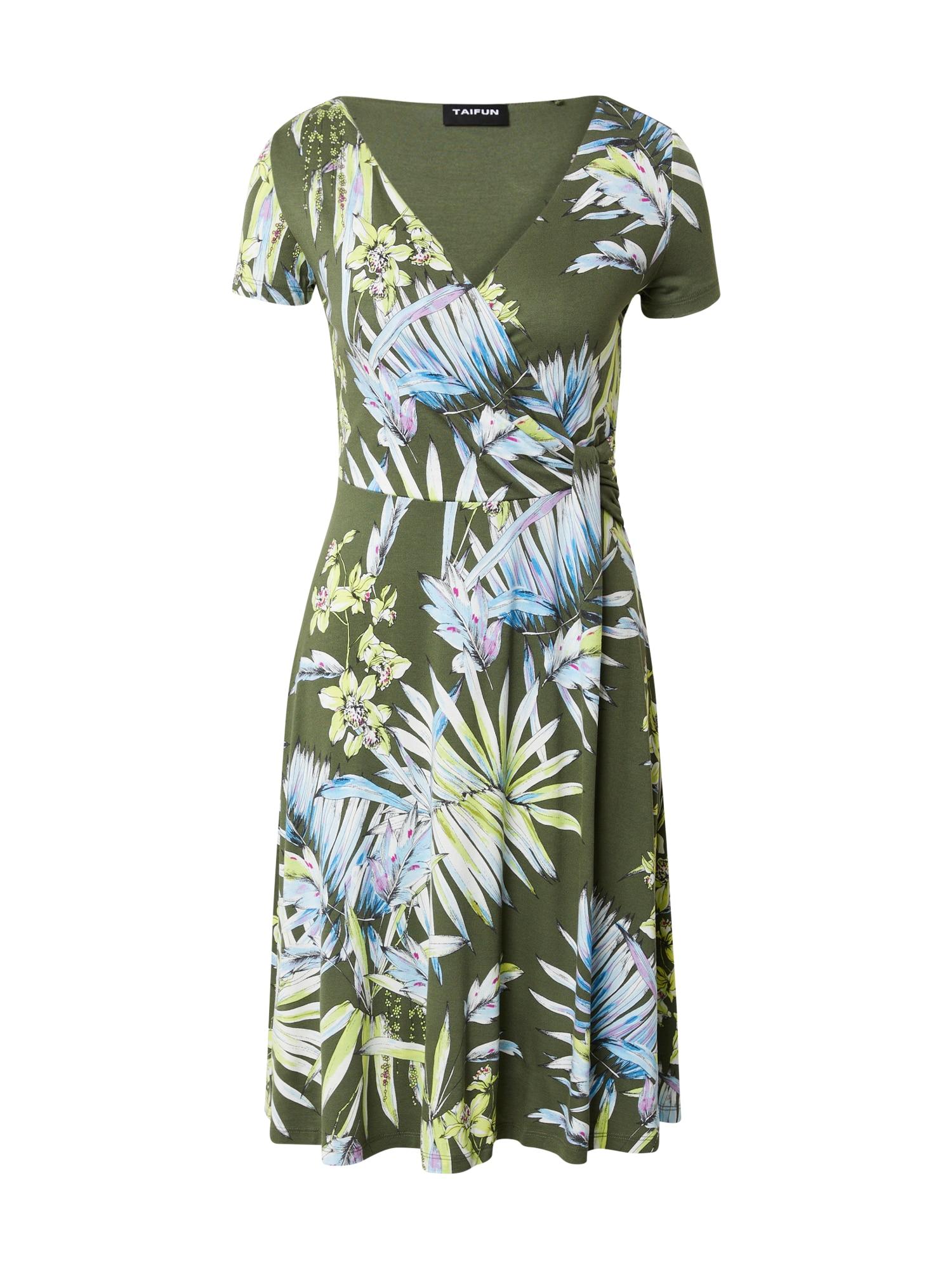 TAIFUN Suknelė žalia / mišrios spalvos